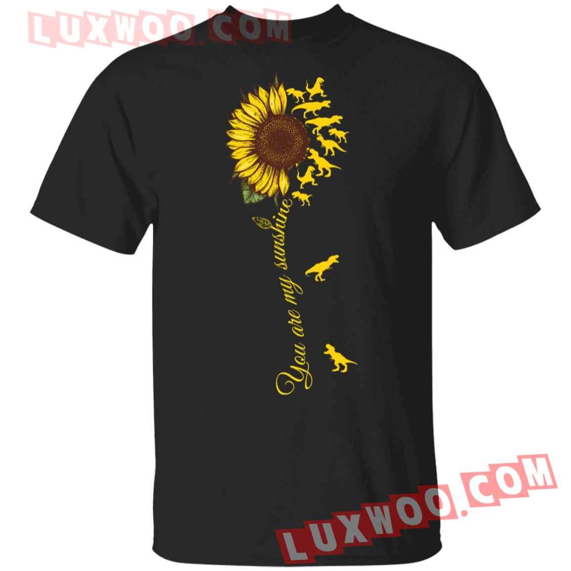 Dinosaur T-rex Sunflower You Are My Sunshine Shirt