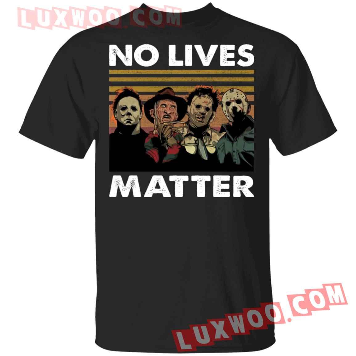 Horror Characters No Lives Matter Shirt