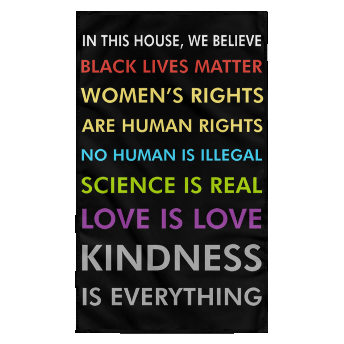 In This House We Believe Black Lives Matter Wall Flag