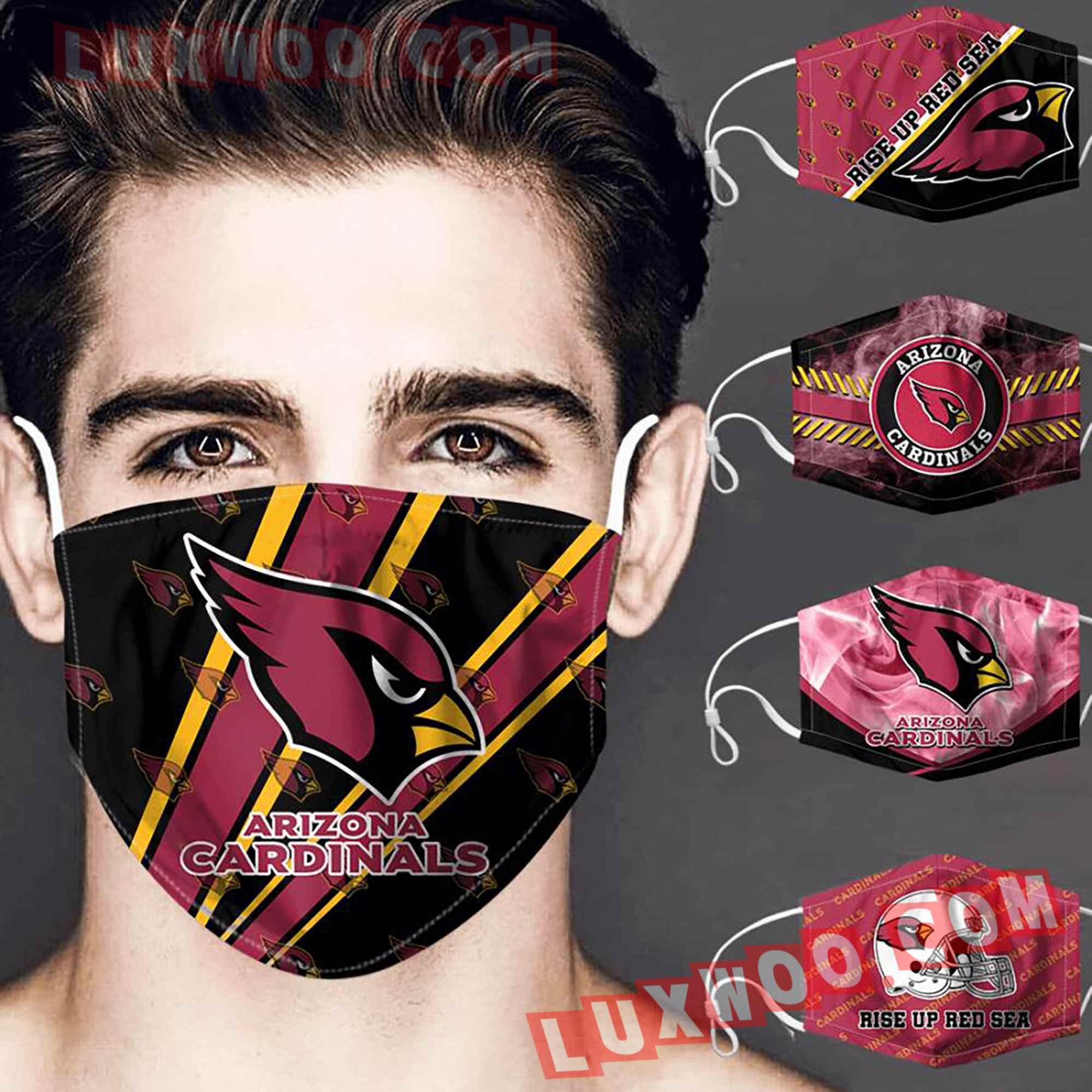Arizona Cardinals 3d Face Mask V2