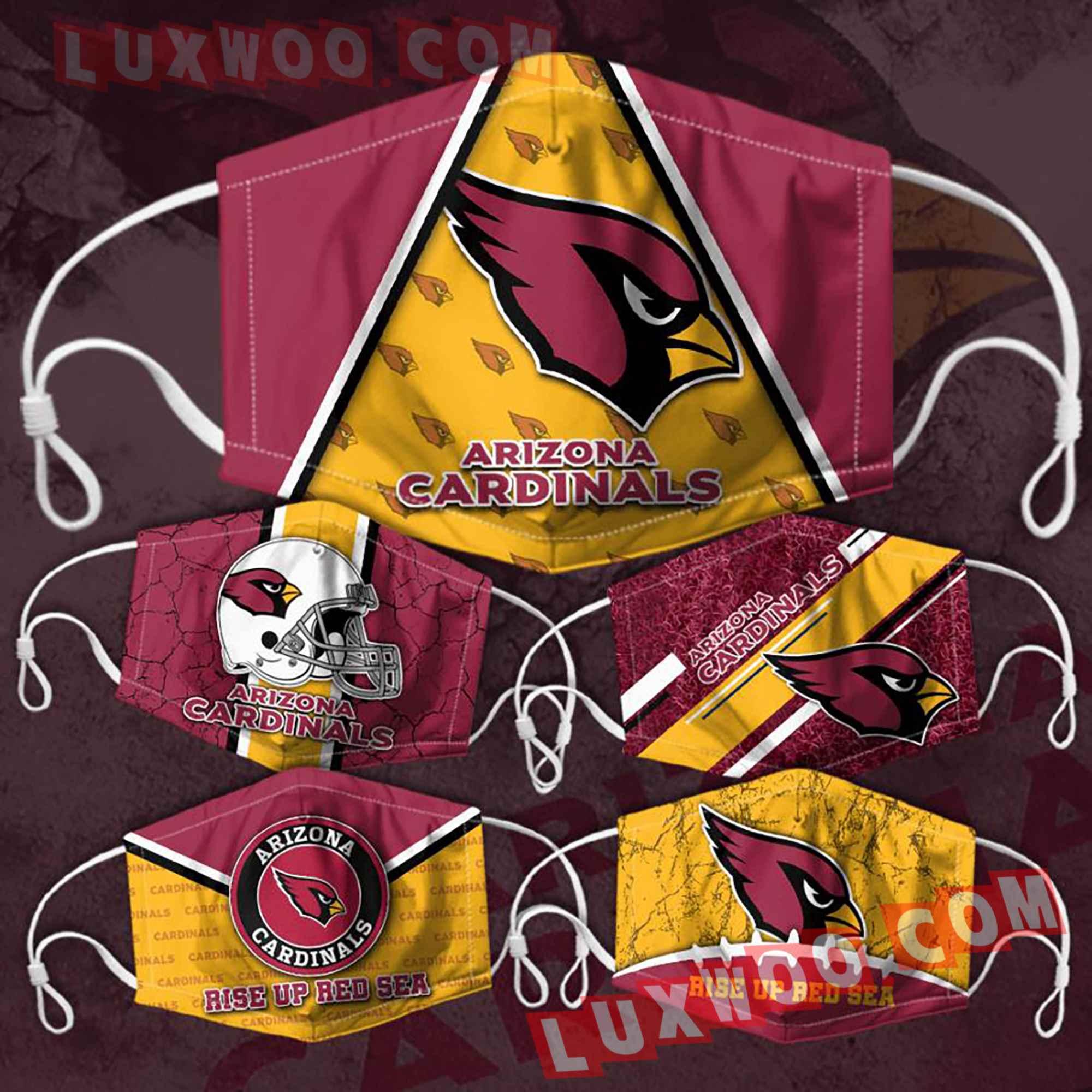 Arizona Cardinals 3d Face Mask V3