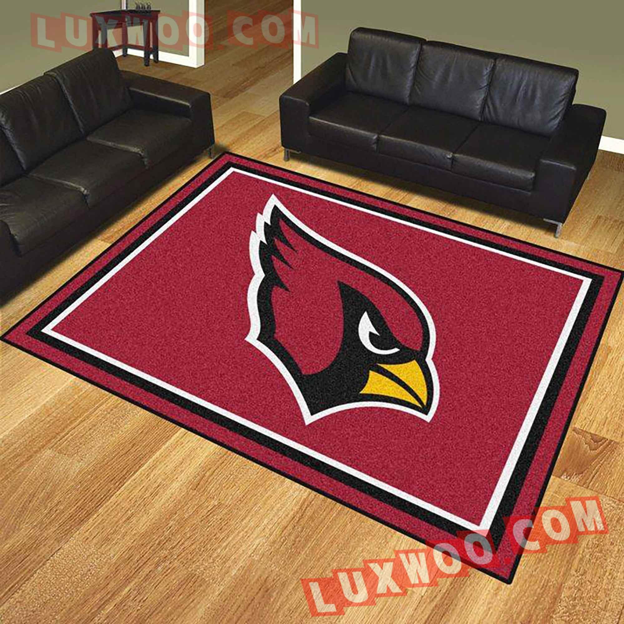 Arizona Cardinals American Flag Us Football Nfl 3d Living Room Rugs V2