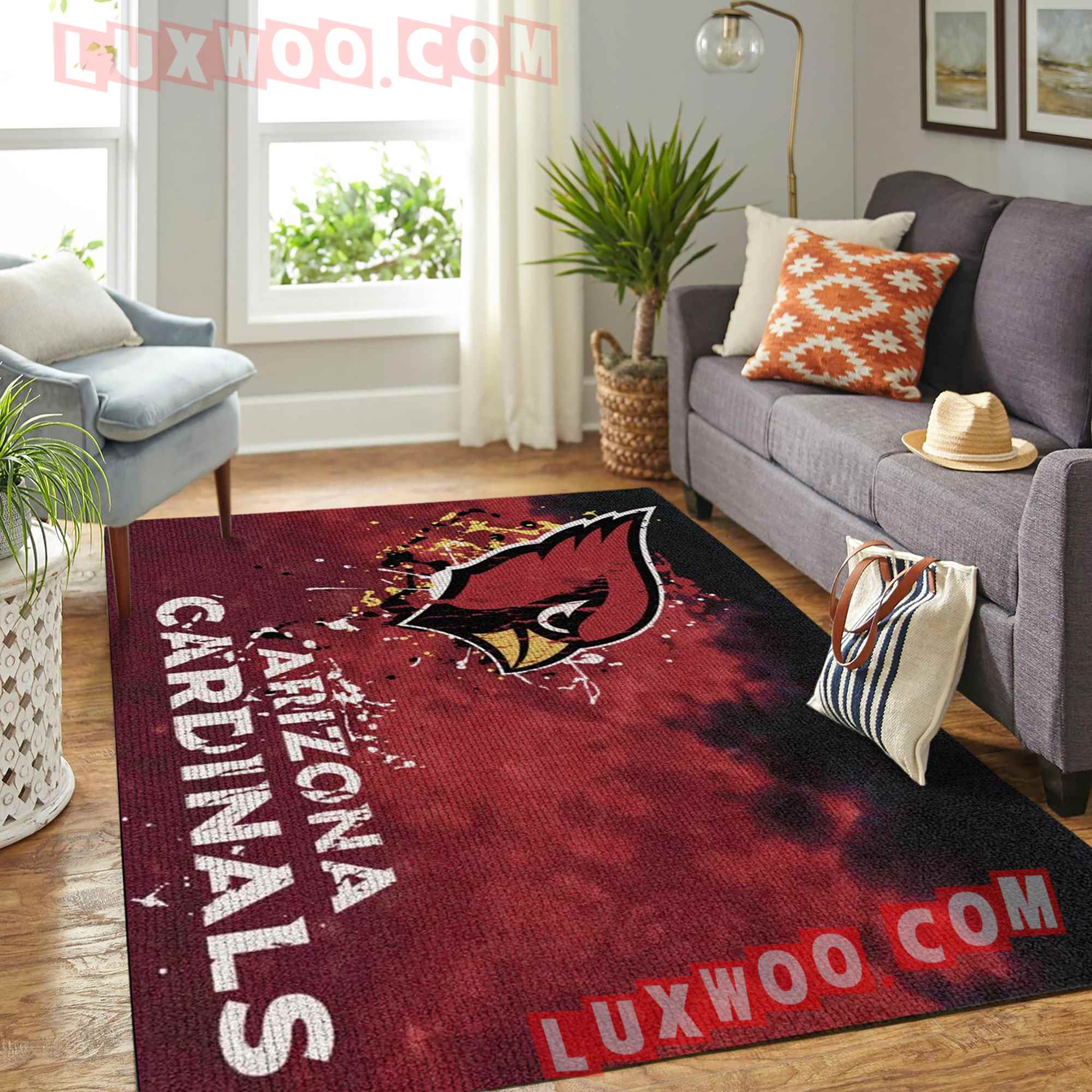 Arizona Cardinals American Flag Us Football Nfl 3d Living Room Rugs V3