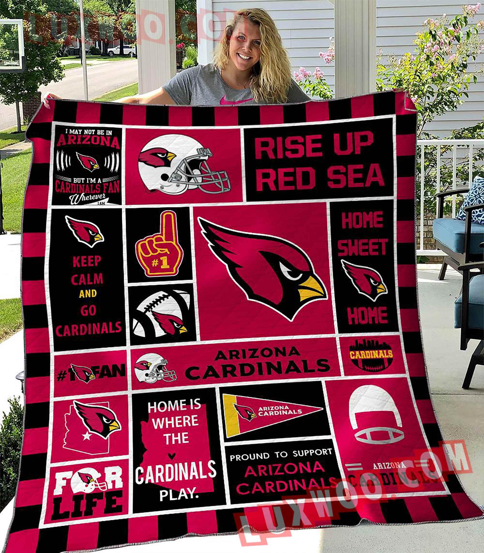 Arizona Cardinals Nfl 3d Quilt Blanket V4