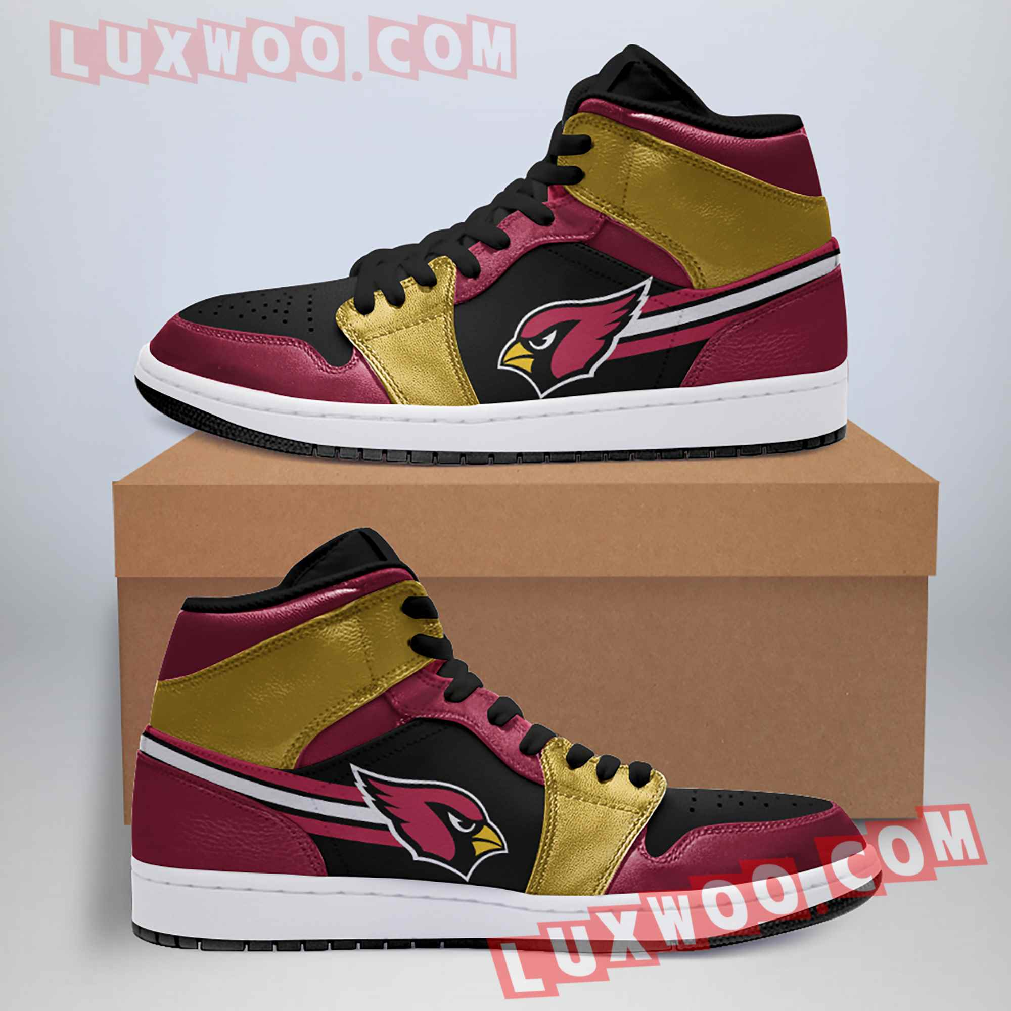 Arizona Cardinals Nfl Air Jordan 1 Custom Shoes Sneaker V1