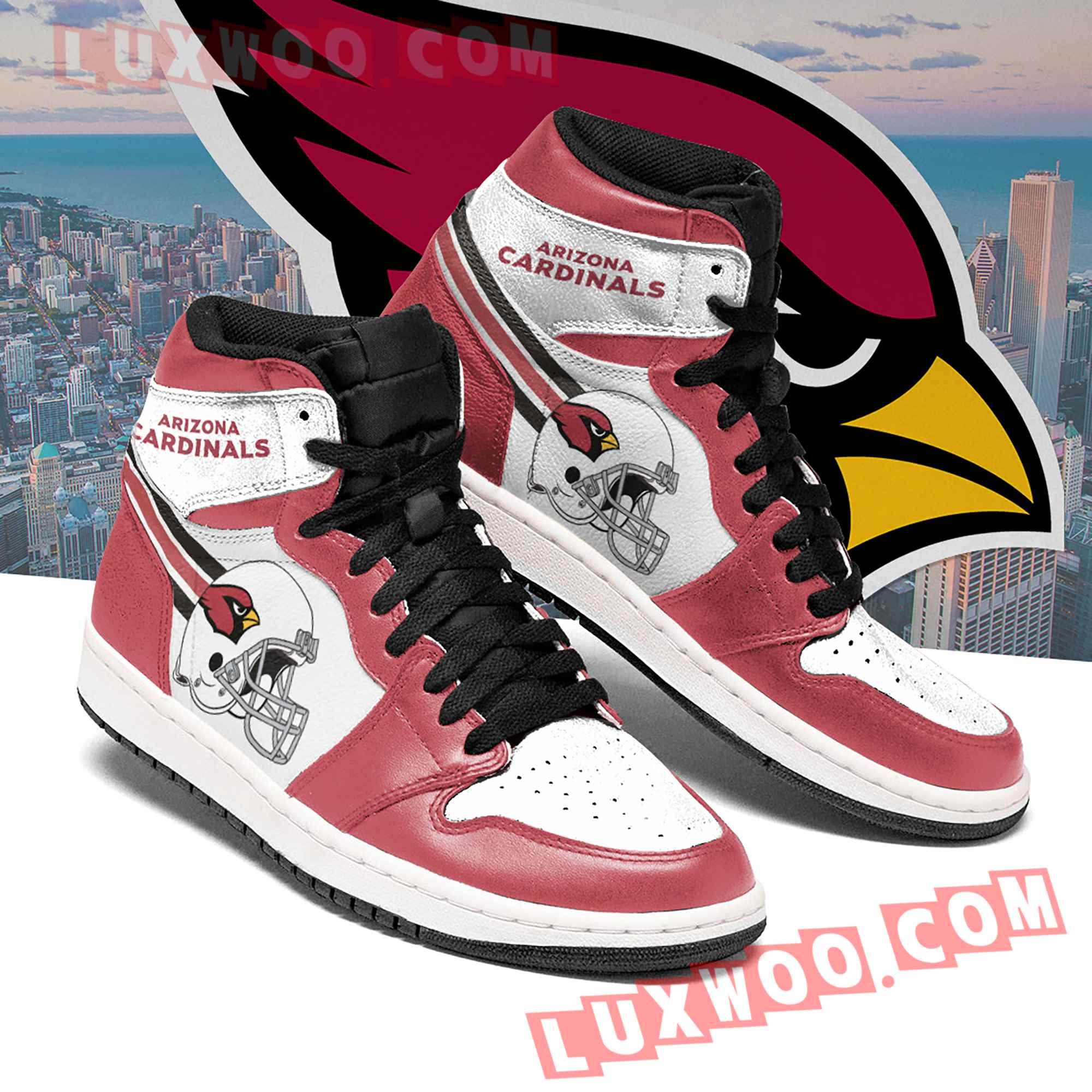 Arizona Cardinals Nfl Air Jordan 1 Custom Shoes Sneaker V6