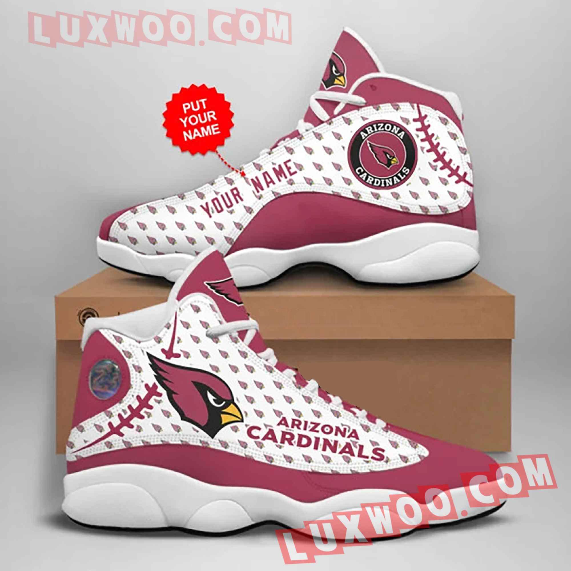 Arizona Cardinals Nfl Air Jordan 13 Custom Shoes Sneaker V1 Full Size