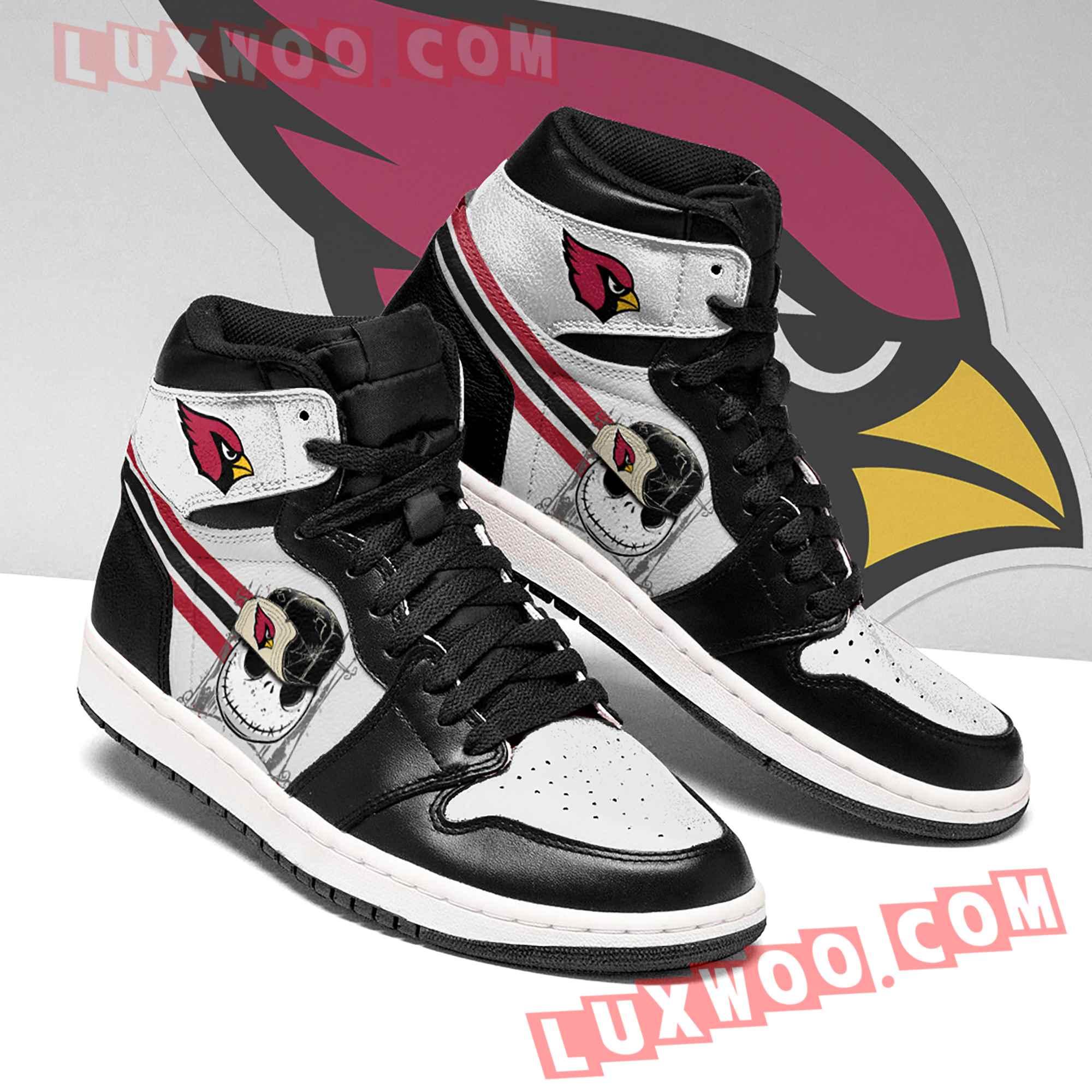 Jack Skellington Arizona Cardinals Nfl Air Jordan 1 Custom Shoes Sneaker V4