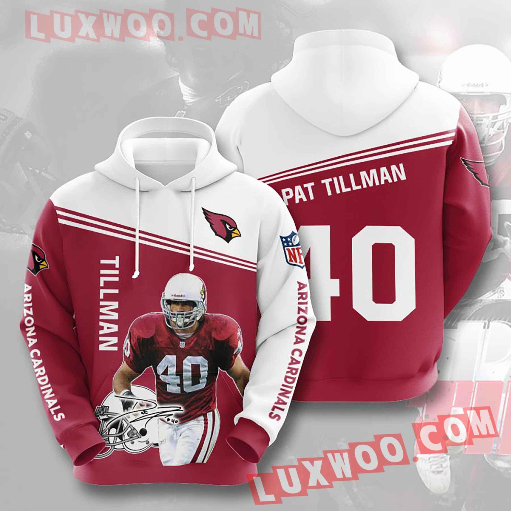 Nfl Arizona Cardinals Hoodies Custom All Over Print 3d Pullover Hoodie V10