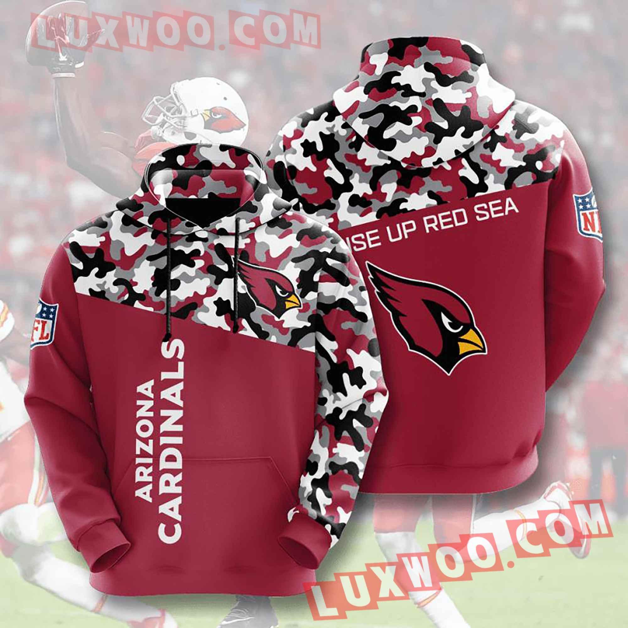 Nfl Arizona Cardinals Hoodies Custom All Over Print 3d Pullover Hoodie V15