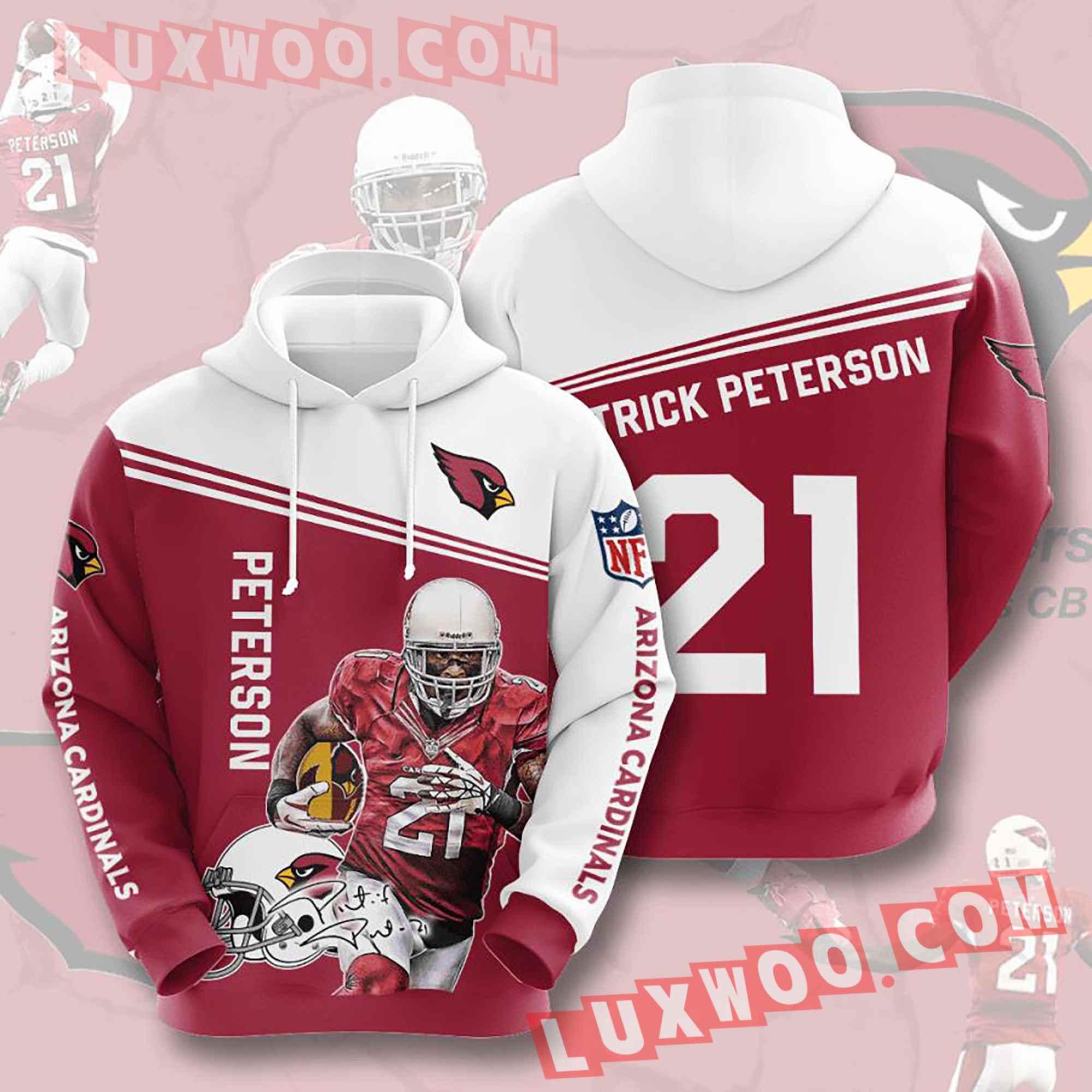 Nfl Arizona Cardinals Hoodies Custom All Over Print 3d Pullover Hoodie V16