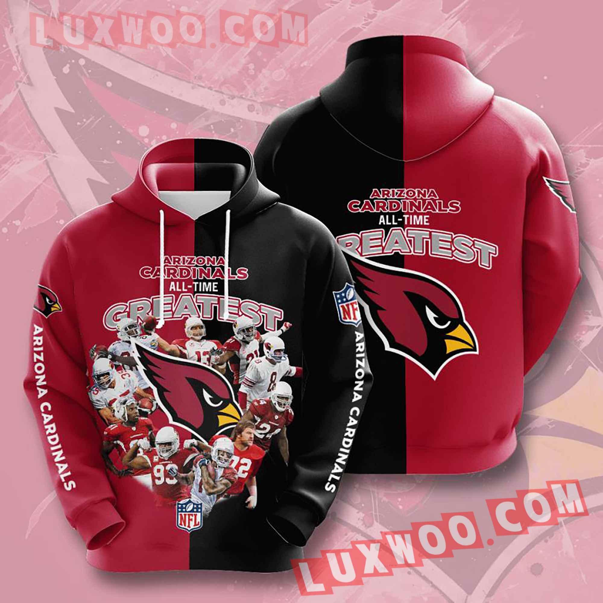 Nfl Arizona Cardinals Hoodies Custom All Over Print 3d Pullover Hoodie V2