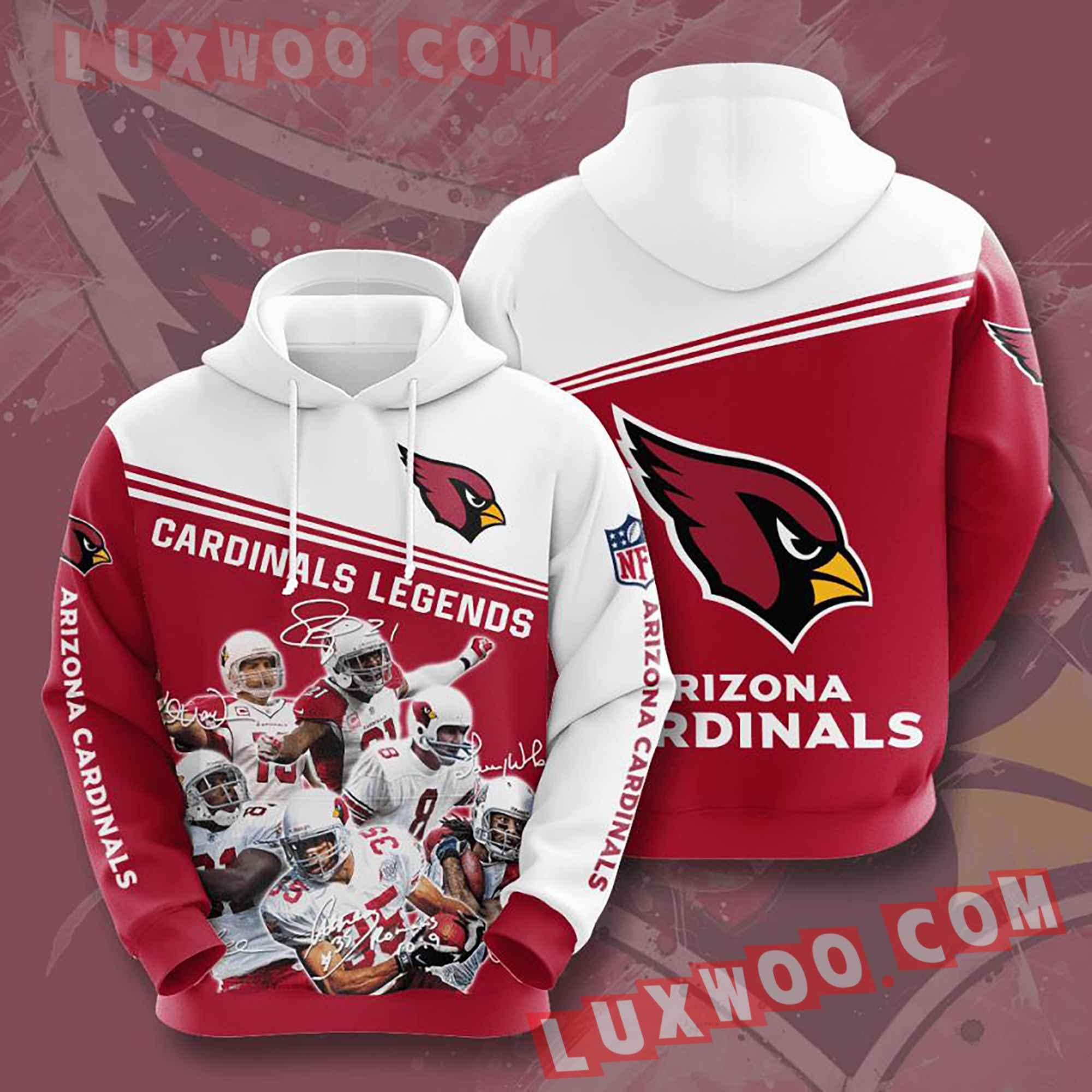 Nfl Arizona Cardinals Hoodies Custom All Over Print 3d Pullover Hoodie V21