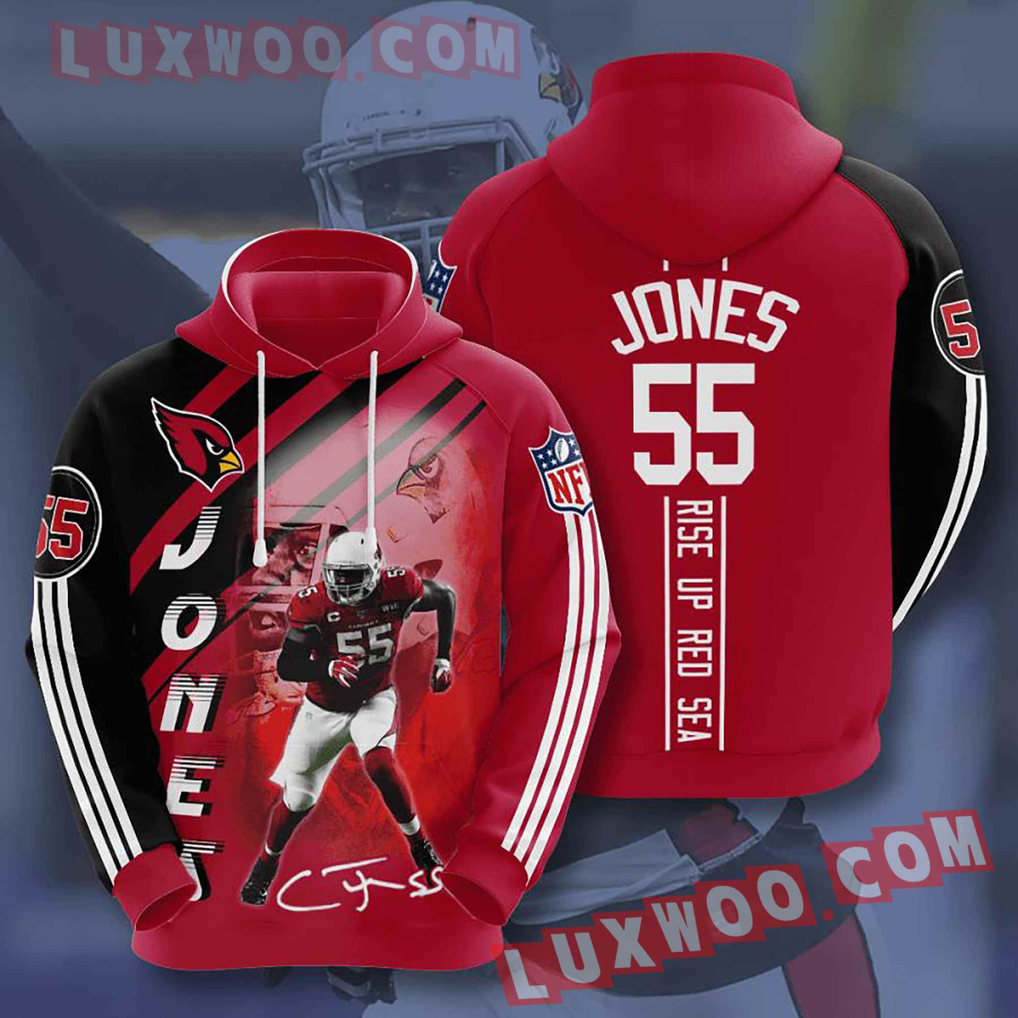 Nfl Arizona Cardinals Hoodies Custom All Over Print 3d Pullover Hoodie V26