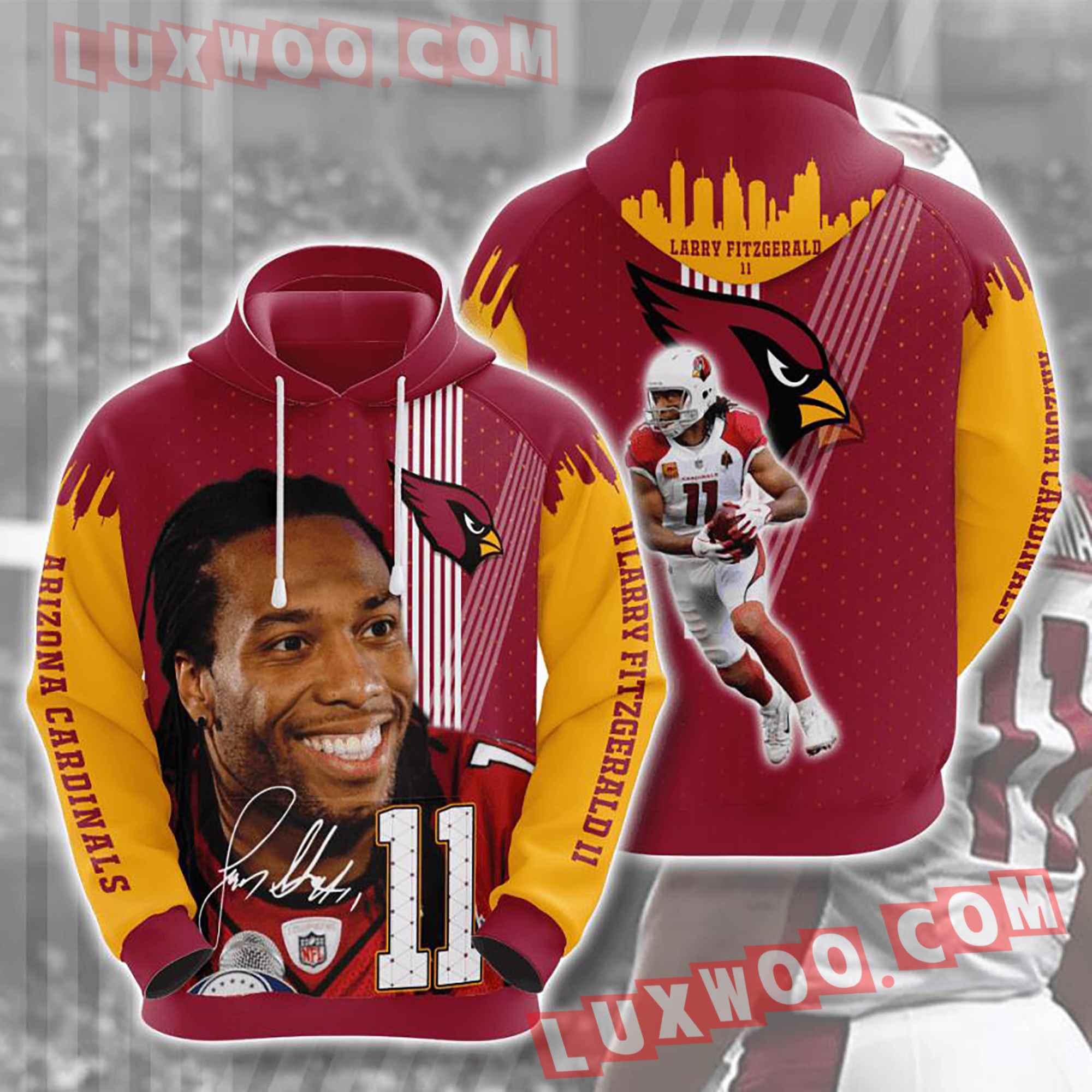 Nfl Arizona Cardinals Hoodies Custom All Over Print 3d Pullover Hoodie V28
