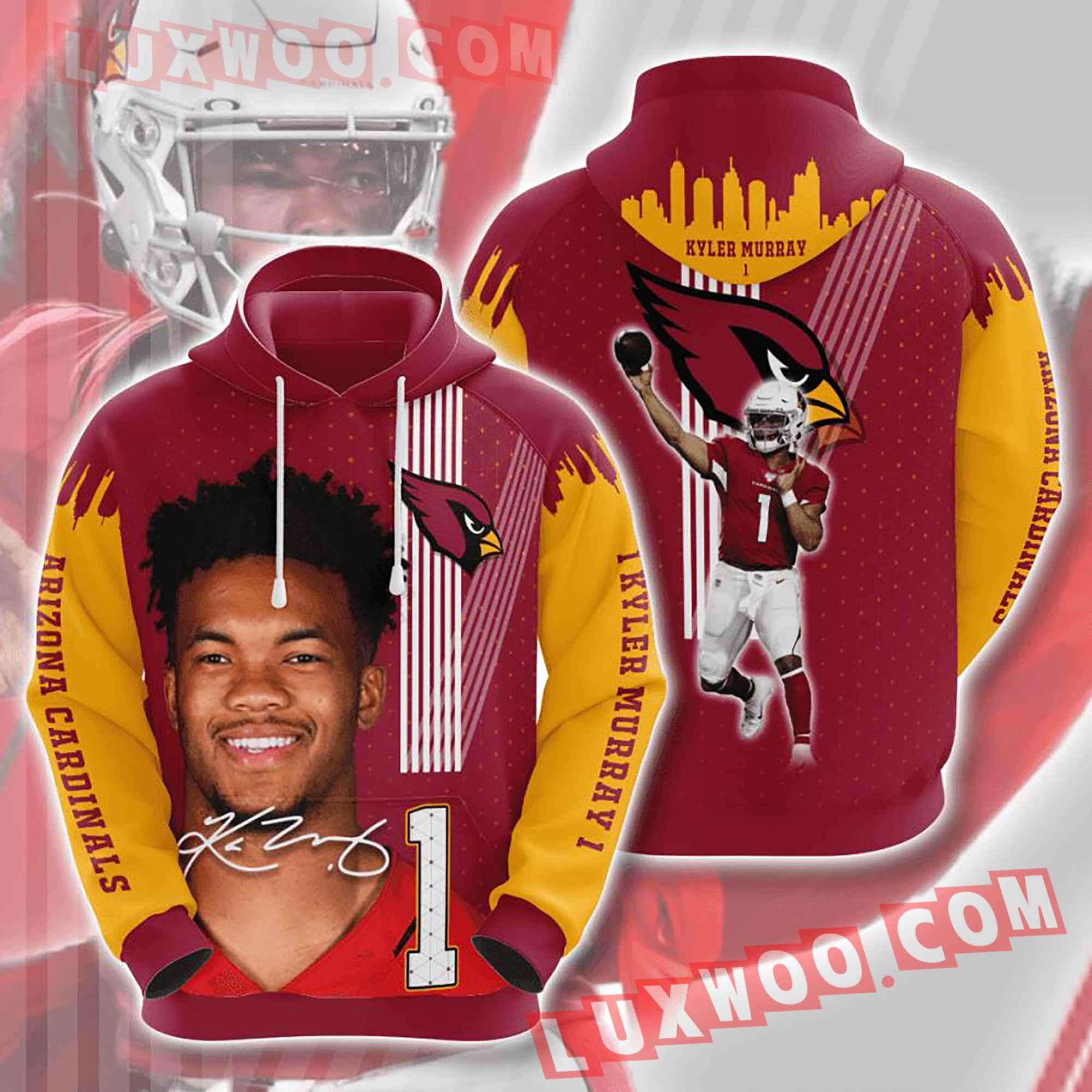 Nfl Arizona Cardinals Hoodies Custom All Over Print 3d Pullover Hoodie V29