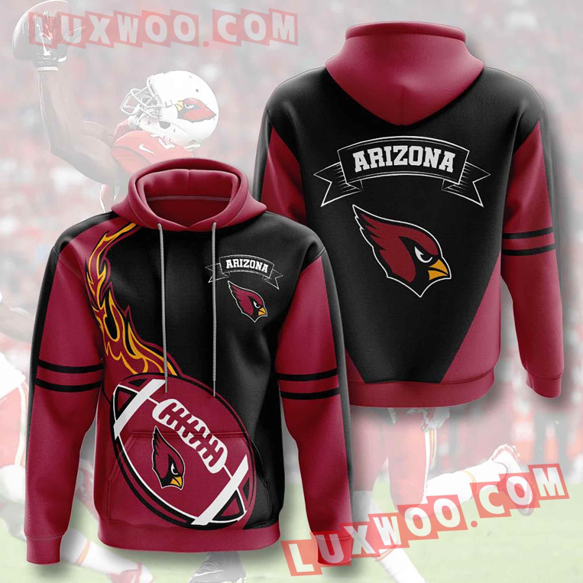 Nfl Arizona Cardinals Hoodies Custom All Over Print 3d Pullover Hoodie V3