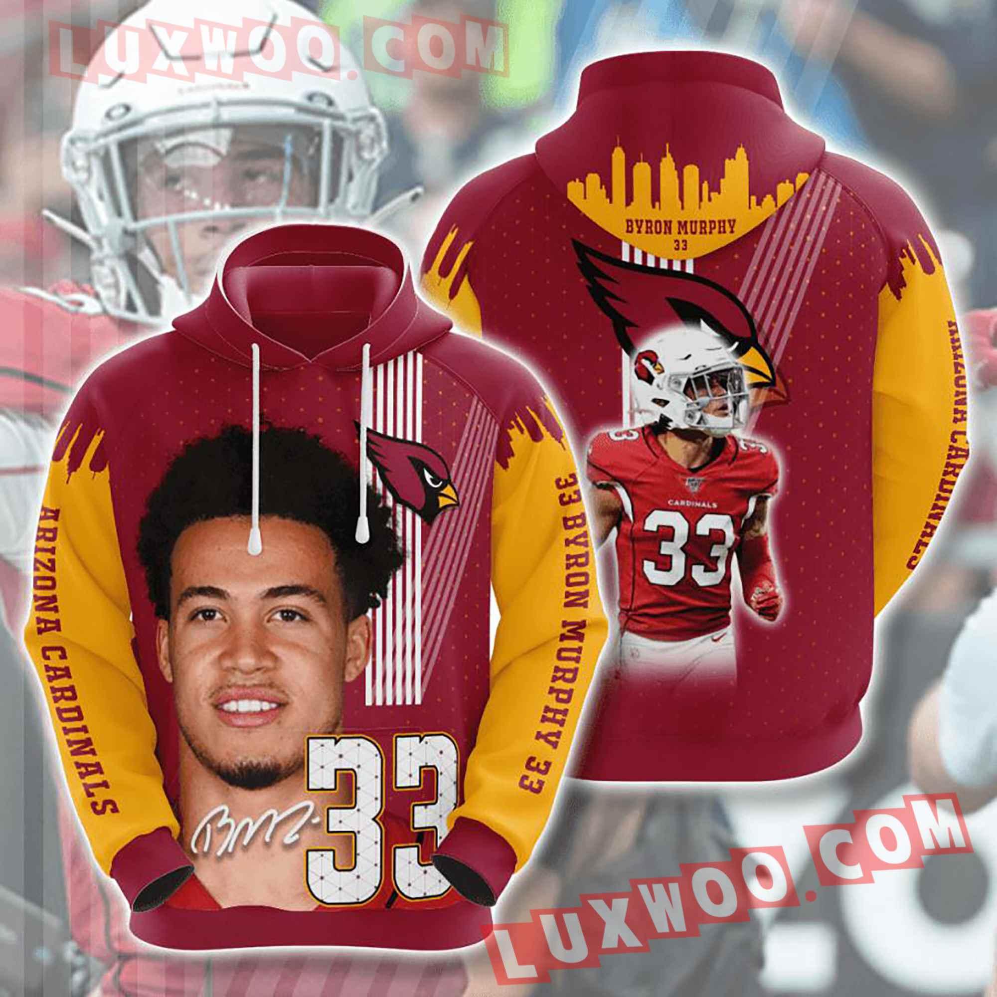 Nfl Arizona Cardinals Hoodies Custom All Over Print 3d Pullover Hoodie V32