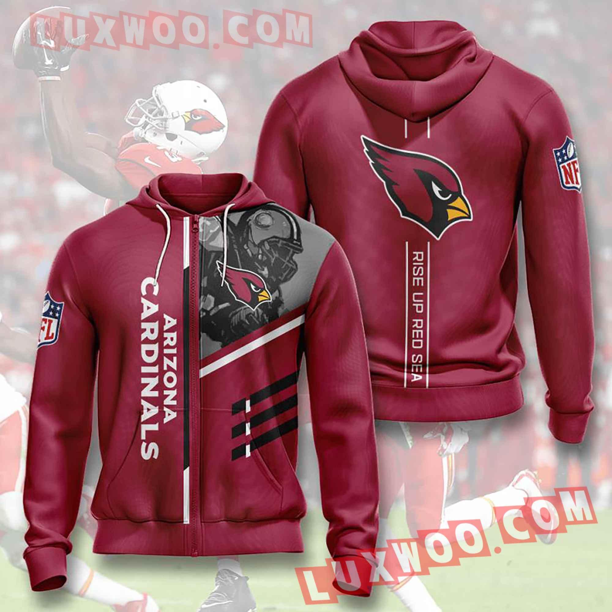 Nfl Arizona Cardinals Hoodies Custom All Over Print 3d Pullover Hoodie V34