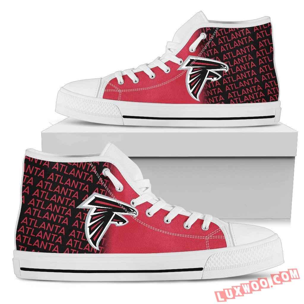 Nfl Atlanta Falcons High Top Shoes Sneaker Sport V1
