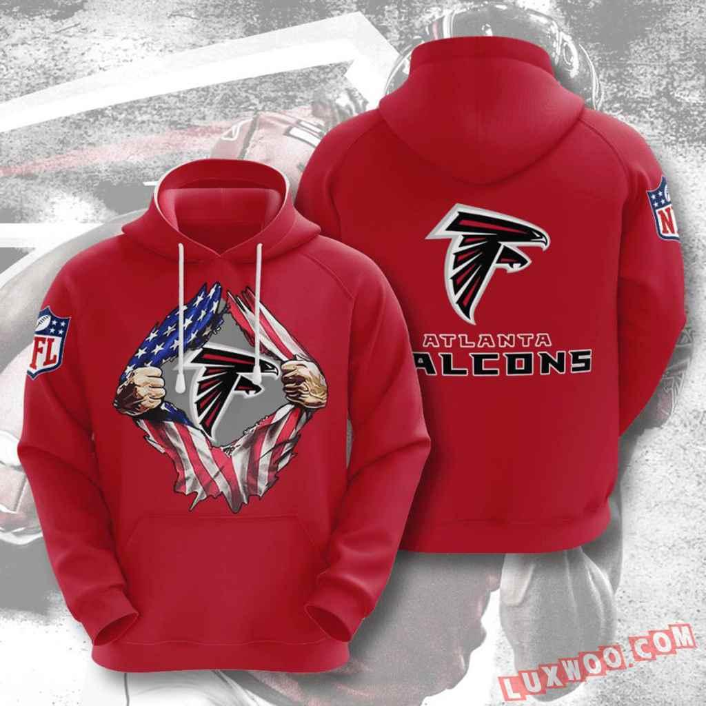 Nfl Atlanta Falcons Hoodies Custom All Over Print 3d Pullover Hoodie V2