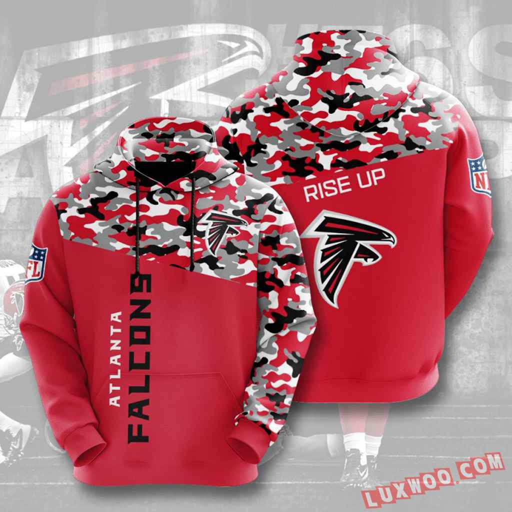 Nfl Atlanta Falcons Hoodies Custom All Over Print 3d Pullover Hoodie V3