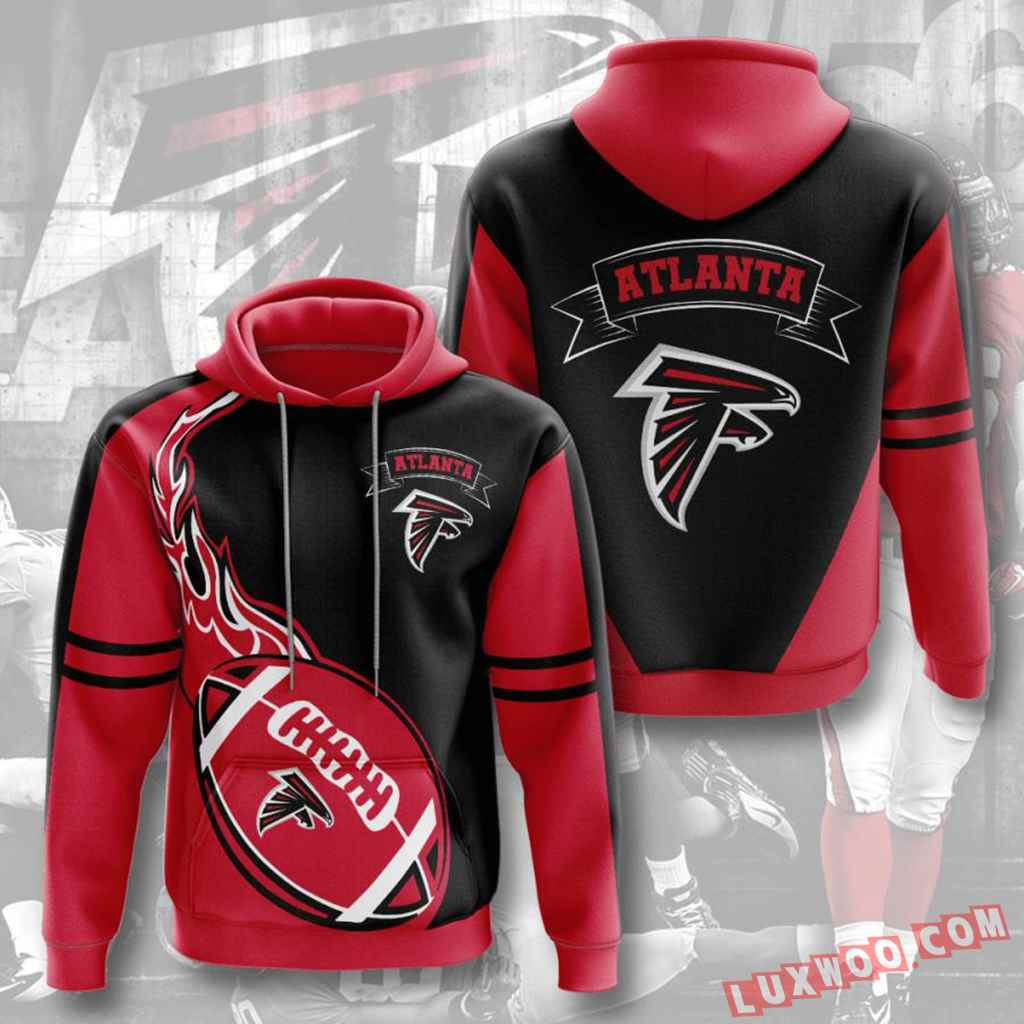 Nfl Atlanta Falcons Hoodies Custom All Over Print 3d Pullover Hoodie V4