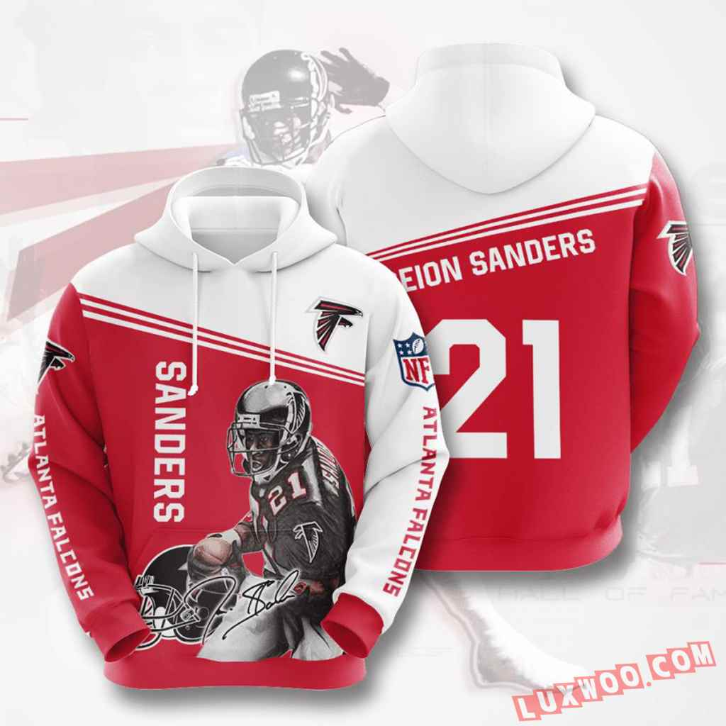 Nfl Atlanta Falcons Hoodies Custom All Over Print 3d Pullover Hoodie V8