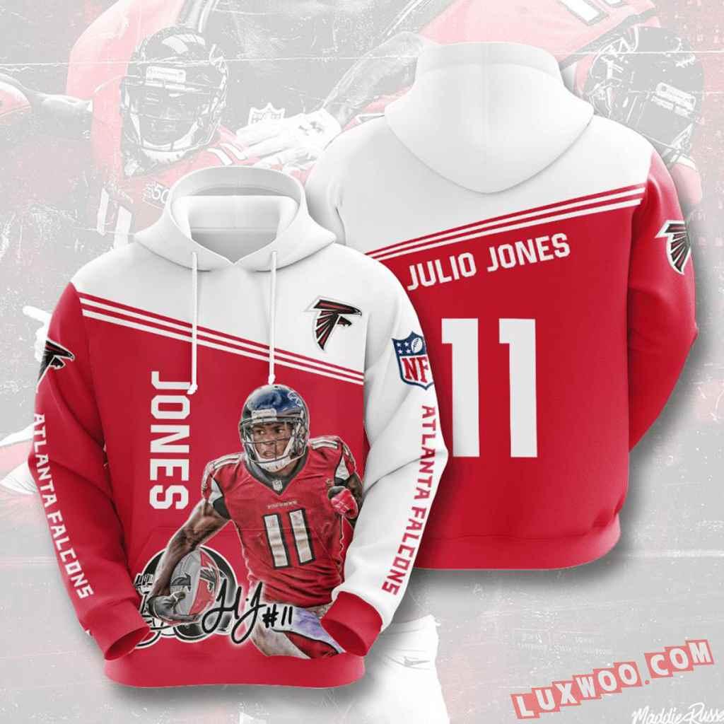 Nfl Atlanta Falcons Hoodies Custom All Over Print 3d Pullover Hoodie V9