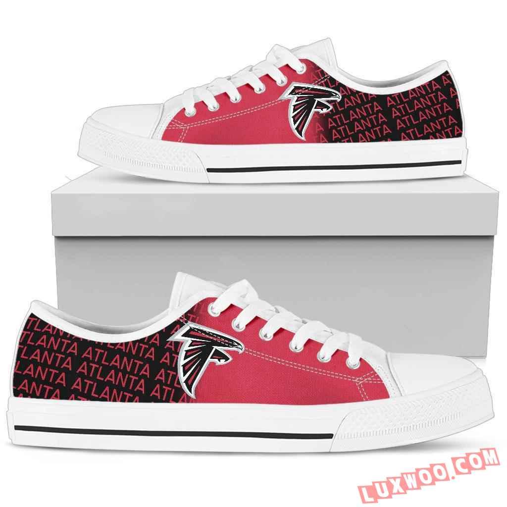 Nfl Atlanta Falcons Low Top Shoes Sneaker Sport V1