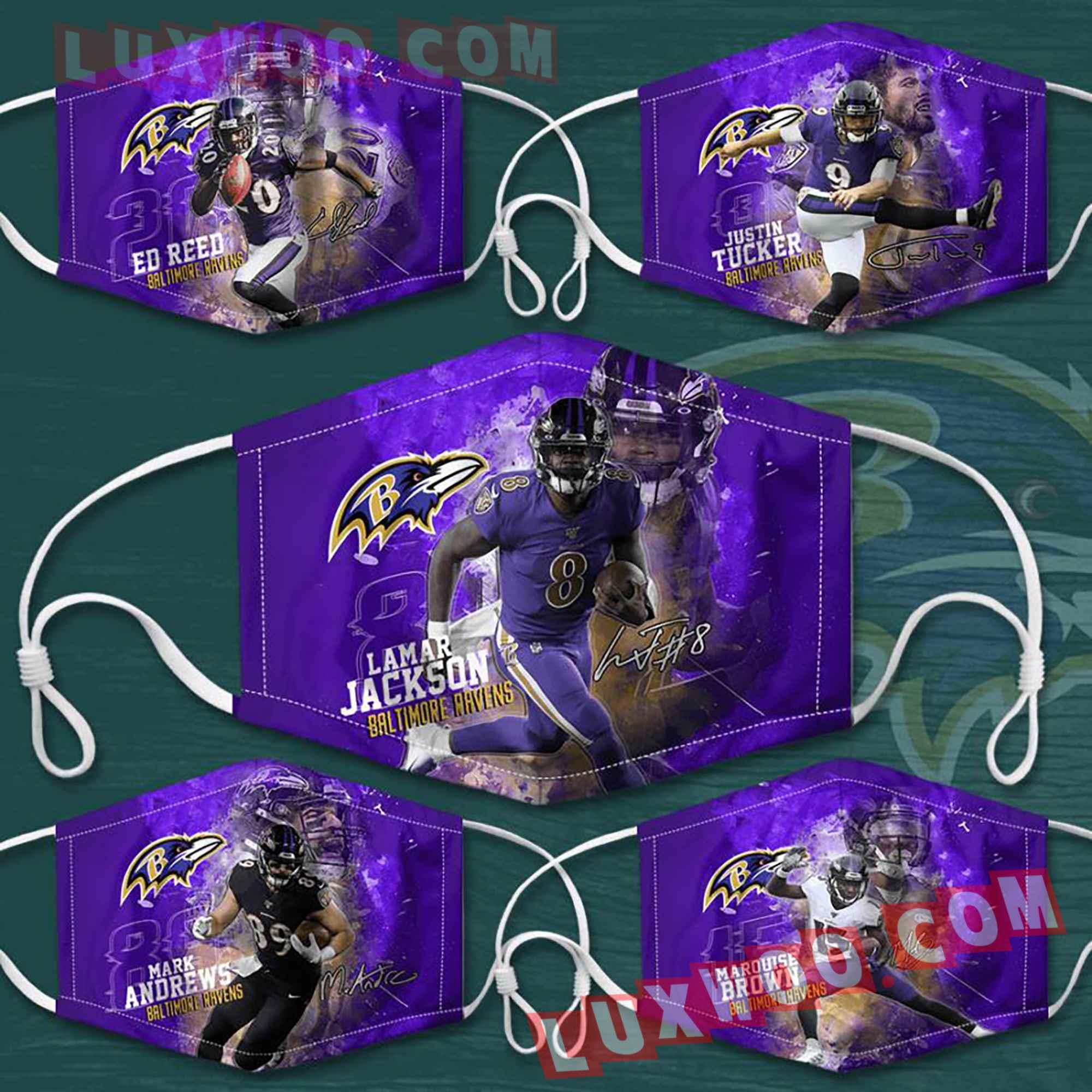 Baltimore Ravens 3d Face Mask Combo 5 V1