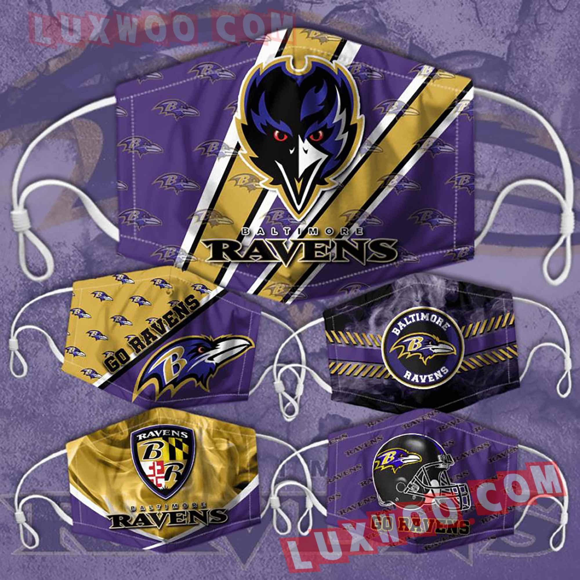 Baltimore Ravens 3d Face Mask Combo 5 V2