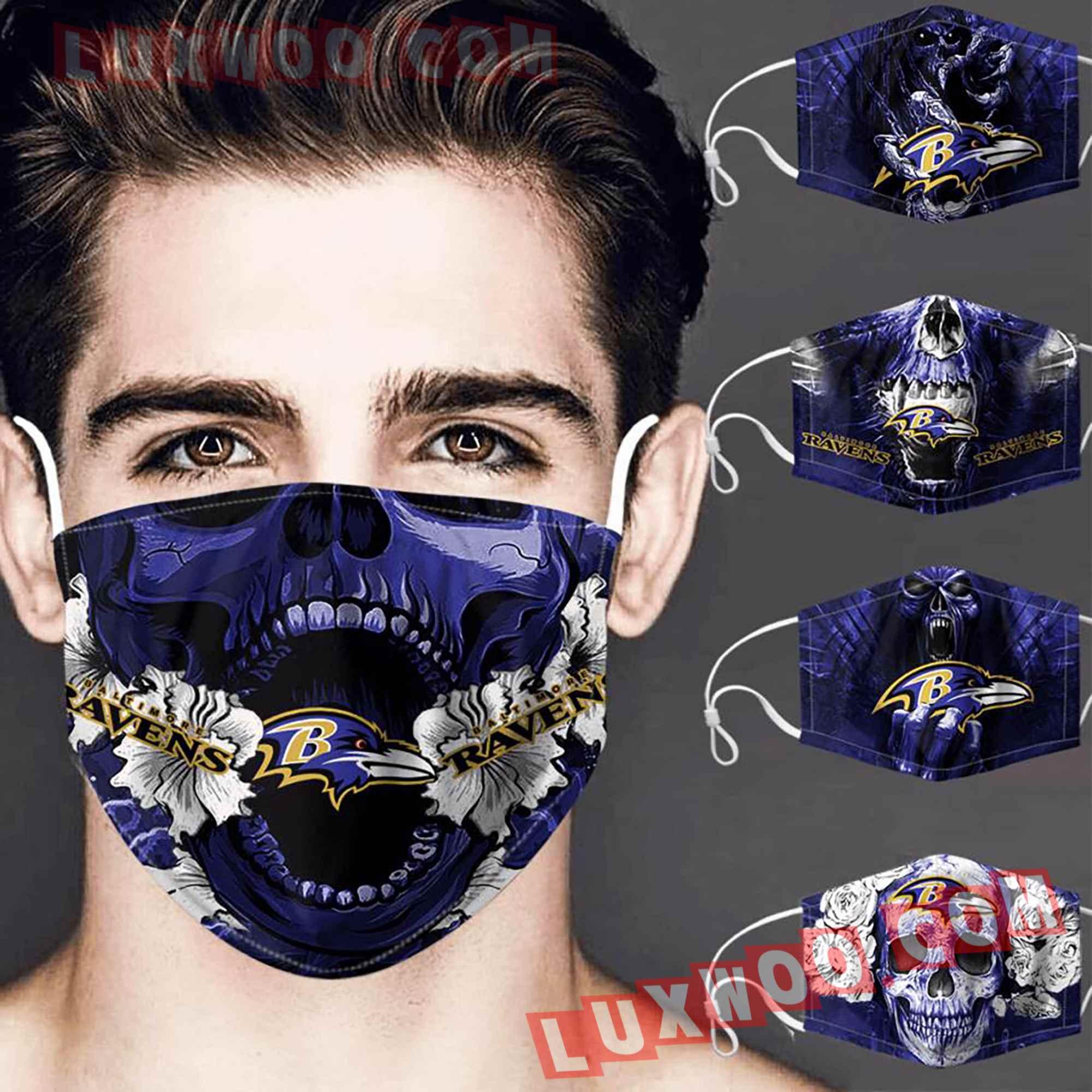 Baltimore Ravens 3d Face Mask Combo 5 V3
