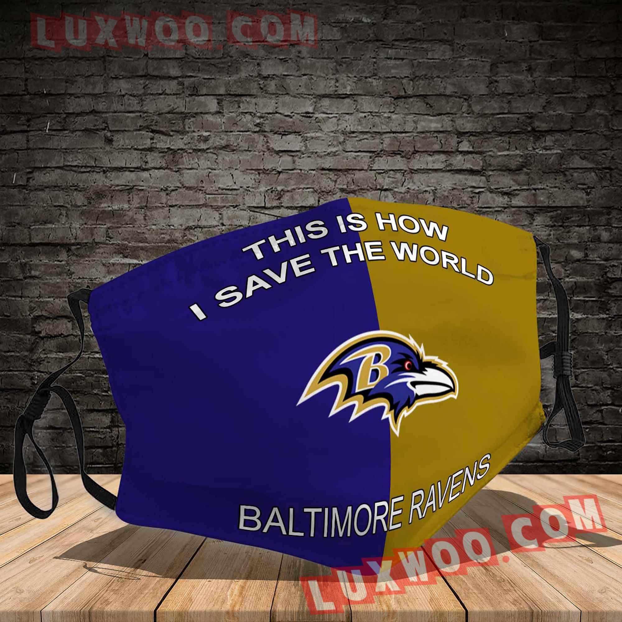Baltimore Ravens 3d Face Mask V1