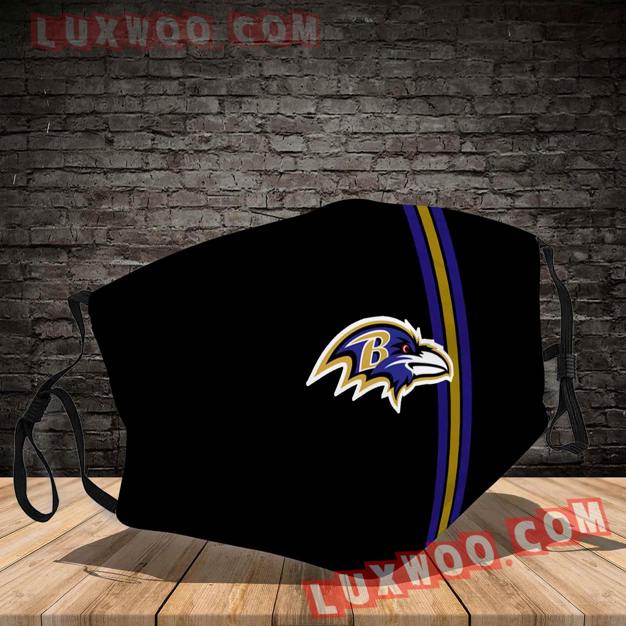 Baltimore Ravens 3d Face Mask V4