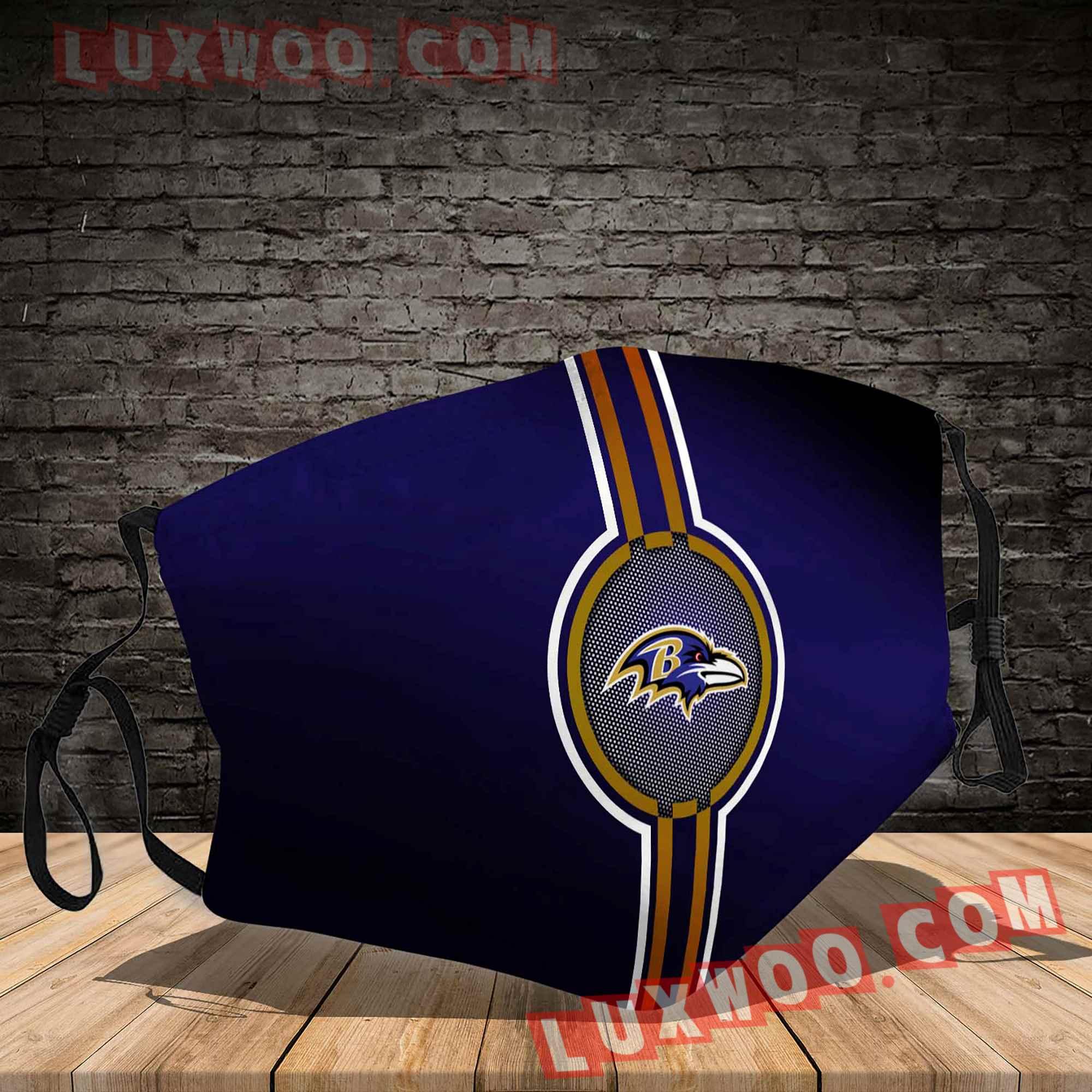 Baltimore Ravens 3d Face Mask V5