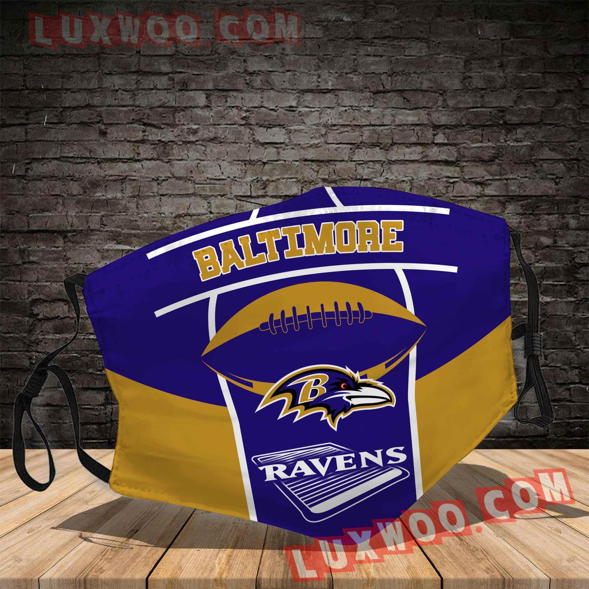 Baltimore Ravens 3d Face Mask V6