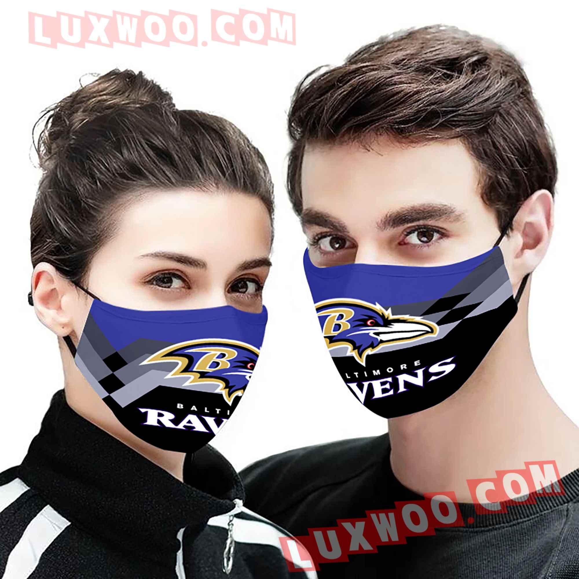 Baltimore Ravens 3d Face Mask V8