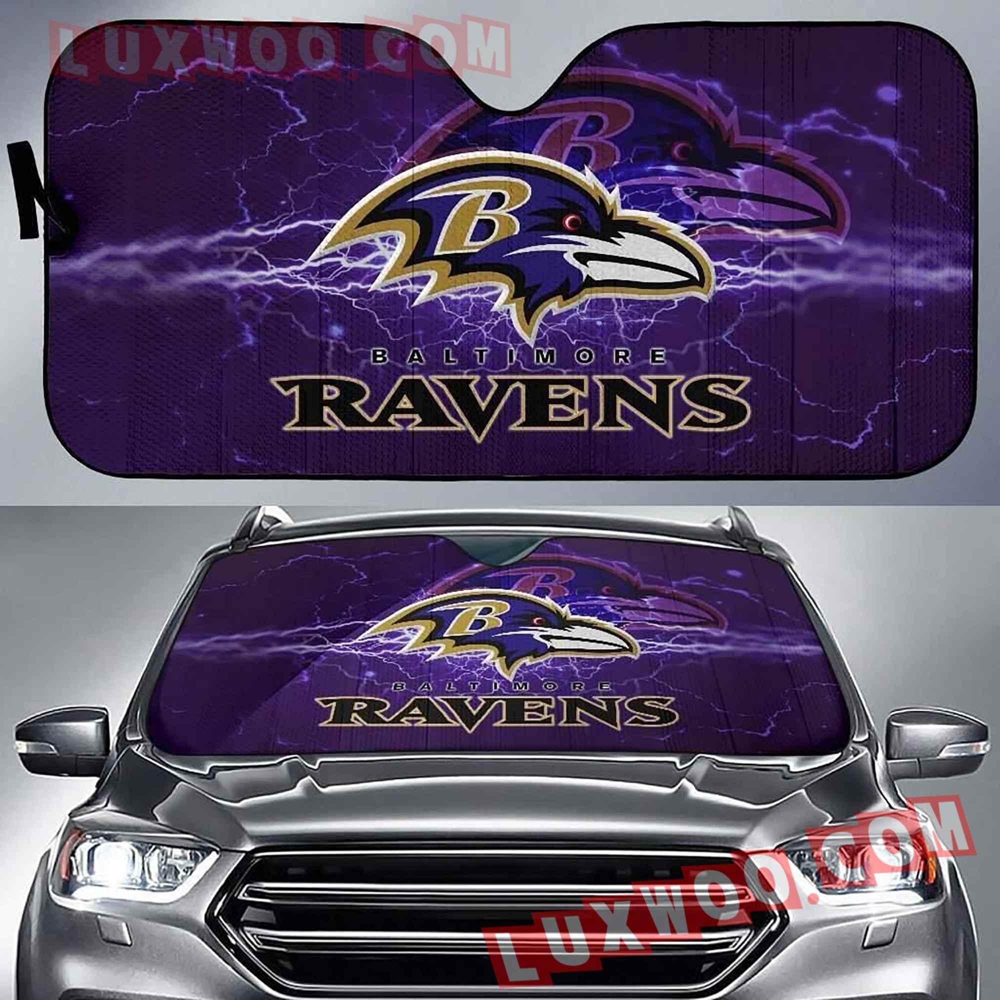 Baltimore Ravens Nfl 3d Auto Sun Shades V1