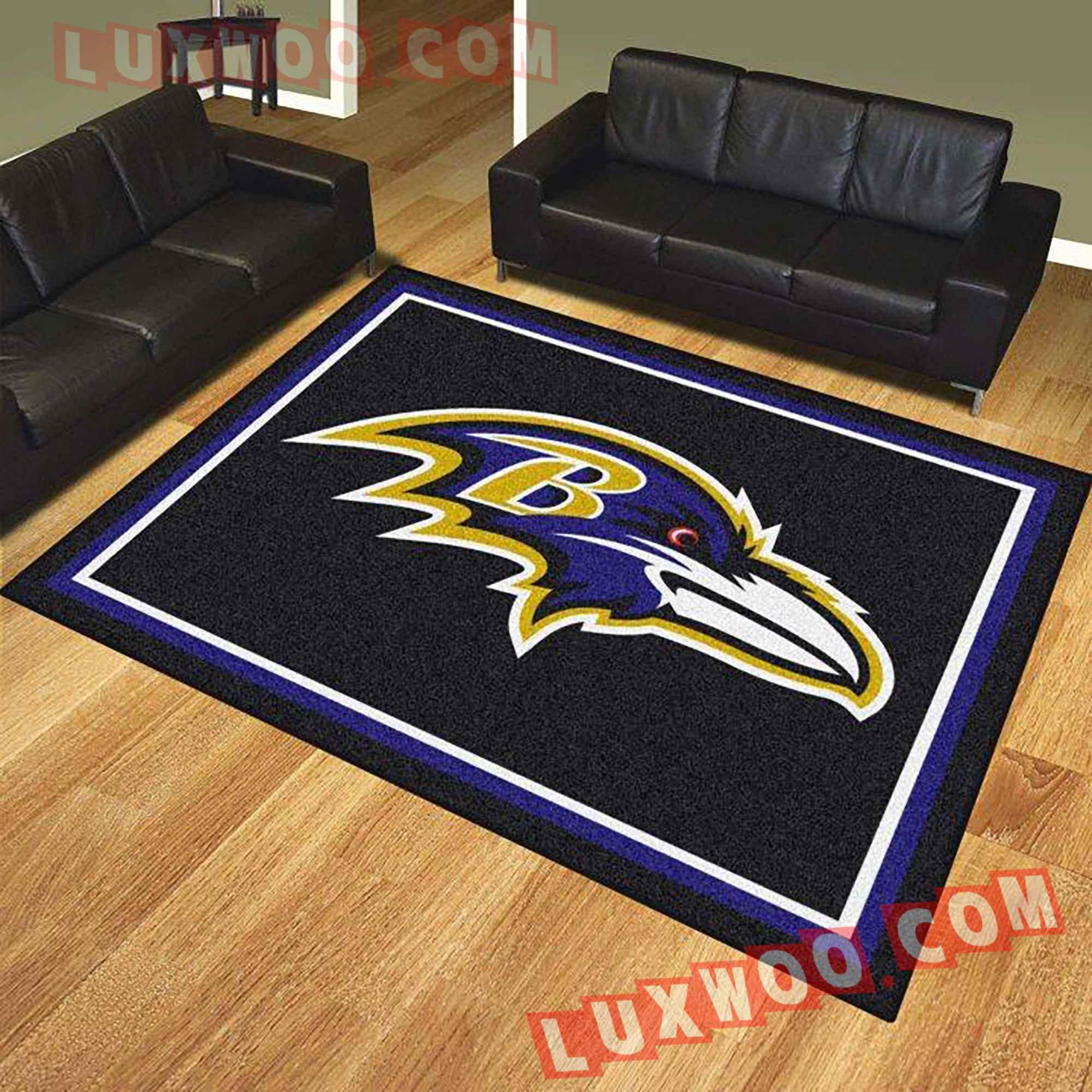 Baltimore Ravens Nfl 3d Living Room Rugs V1