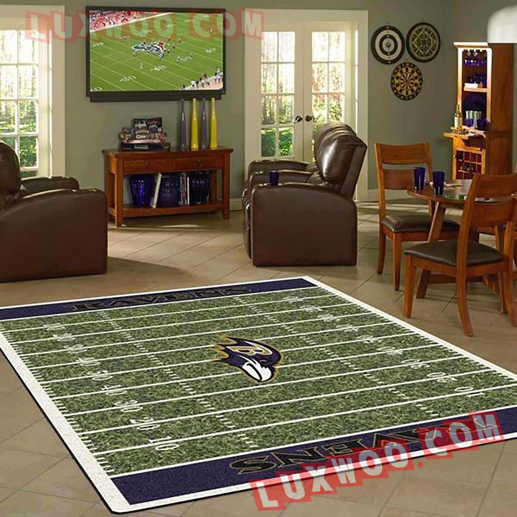 Baltimore Ravens Nfl 3d Living Room Rugs V2