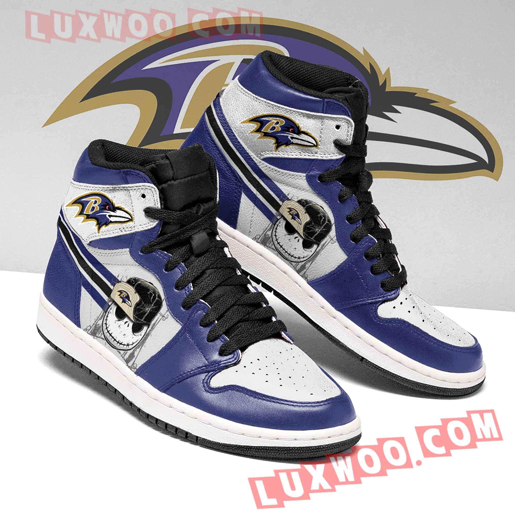 Baltimore Ravens Nfl Air Jordan 1 Custom Shoes Sneaker V2