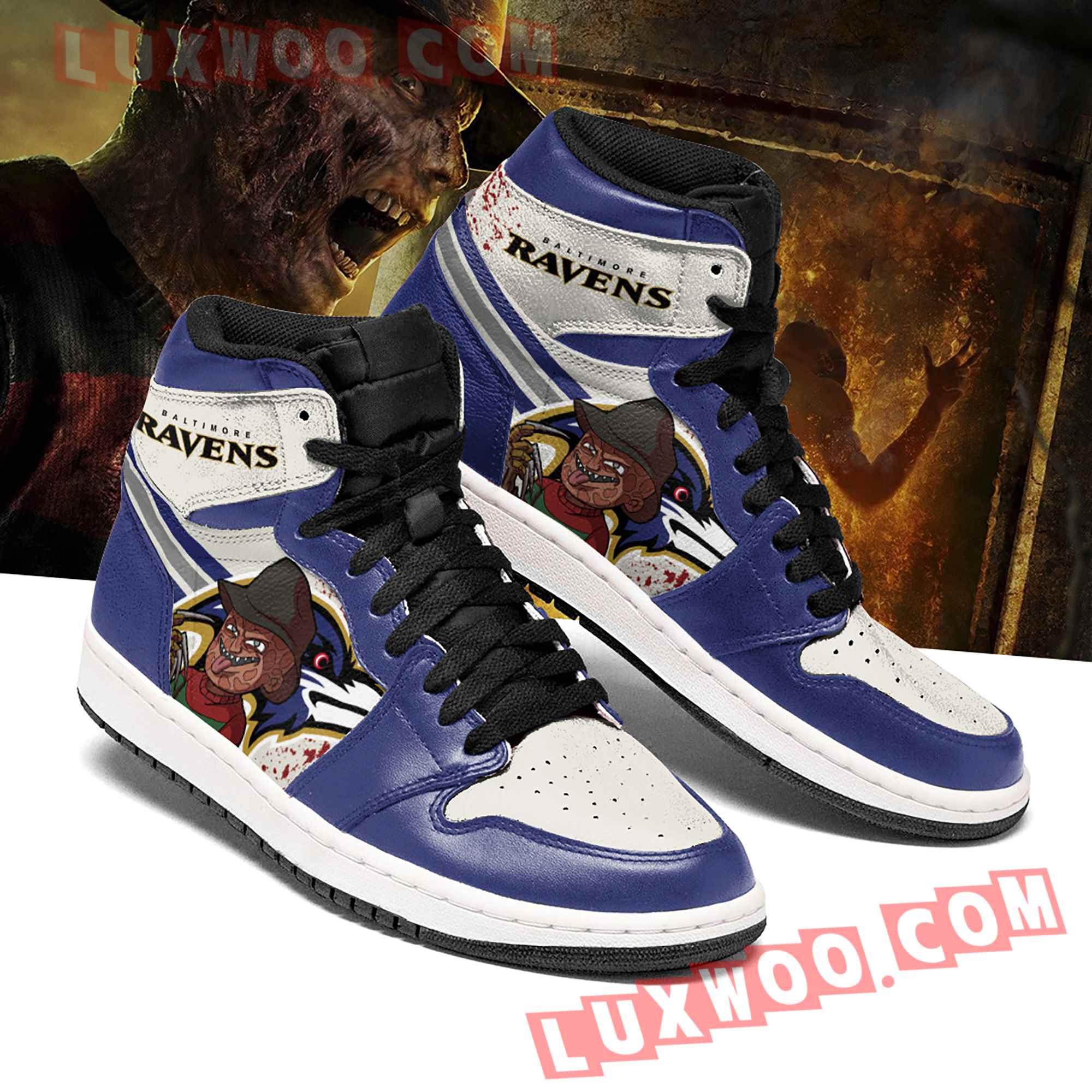 Baltimore Ravens Nfl Air Jordan 1 Custom Shoes Sneaker V3