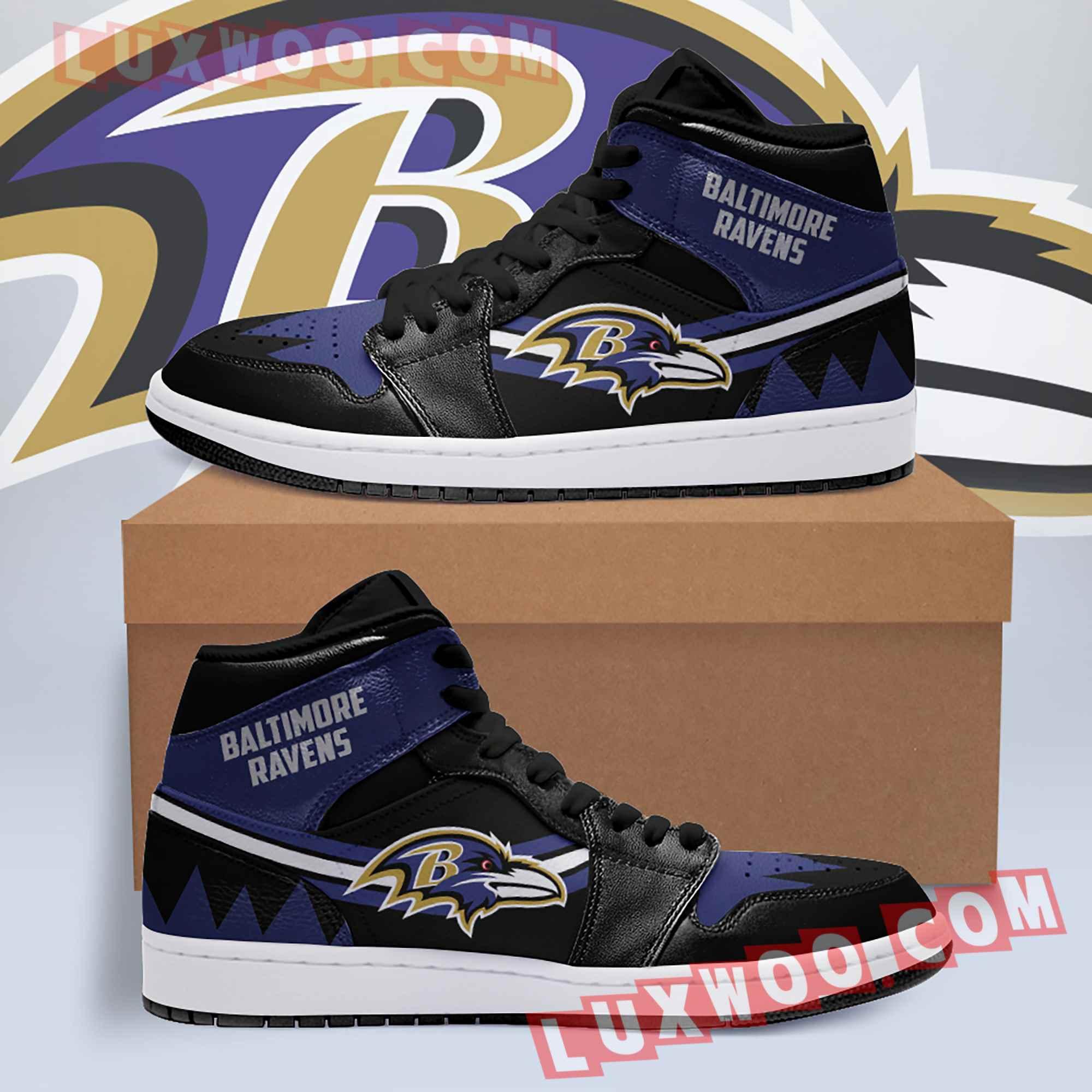 Baltimore Ravens Nfl Air Jordan 1 Custom Shoes Sneaker V5