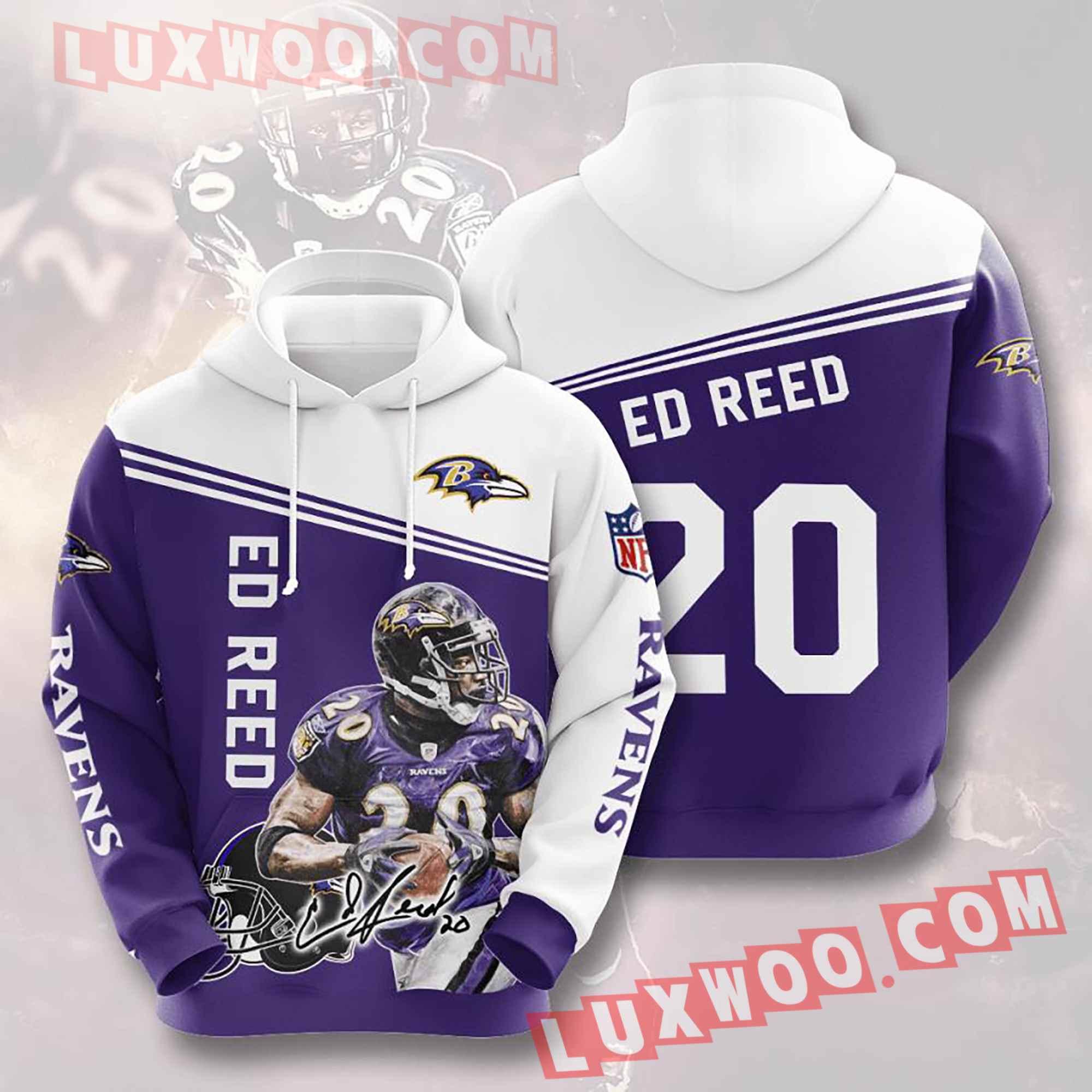 Baltimore Ravens Nfl Custom All Over Print 3d Pullover Hoodie V12
