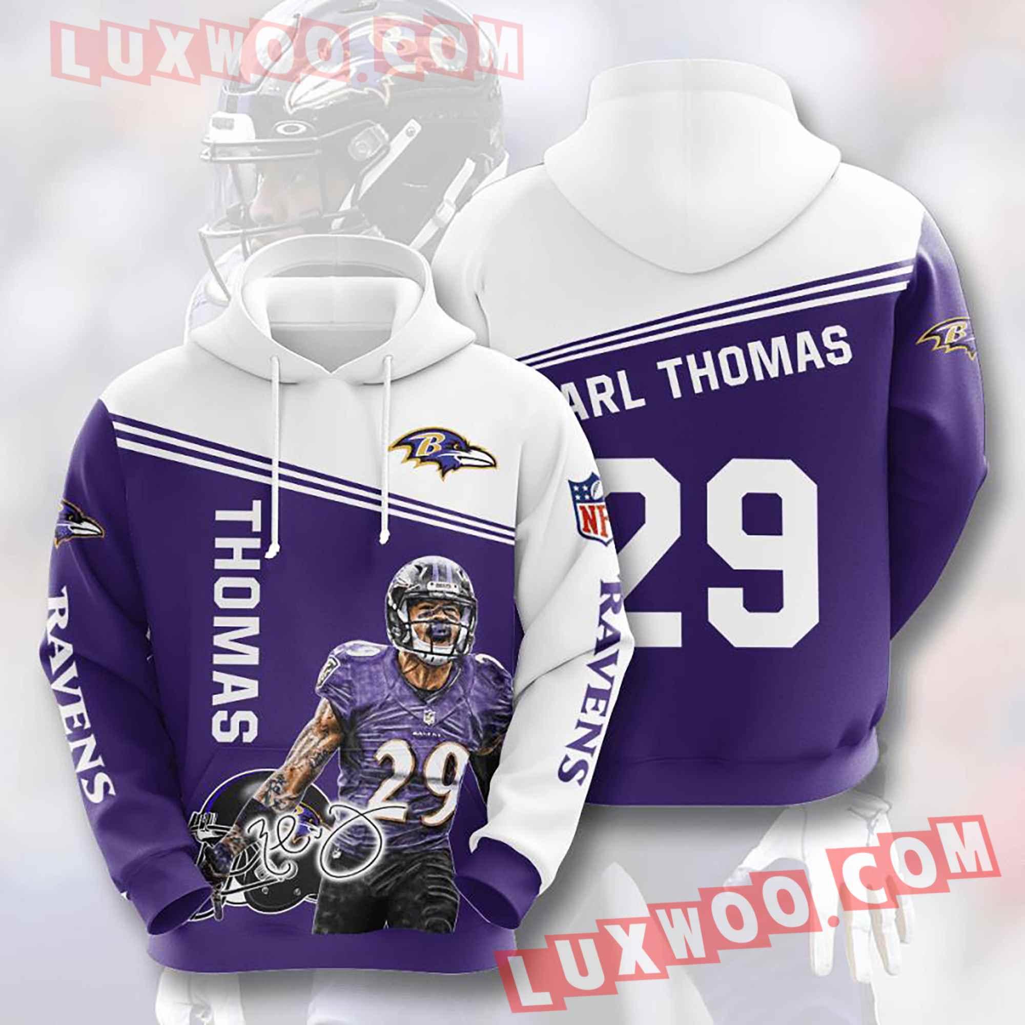 Baltimore Ravens Nfl Custom All Over Print 3d Pullover Hoodie V14