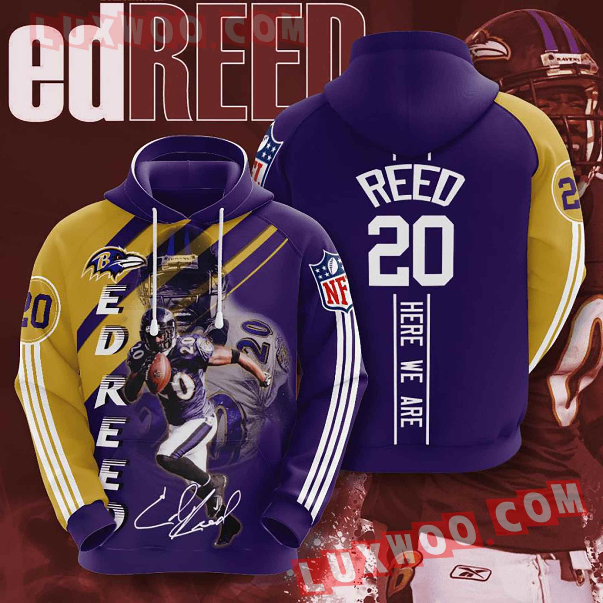 Baltimore Ravens Nfl Custom All Over Print 3d Pullover Hoodie V21