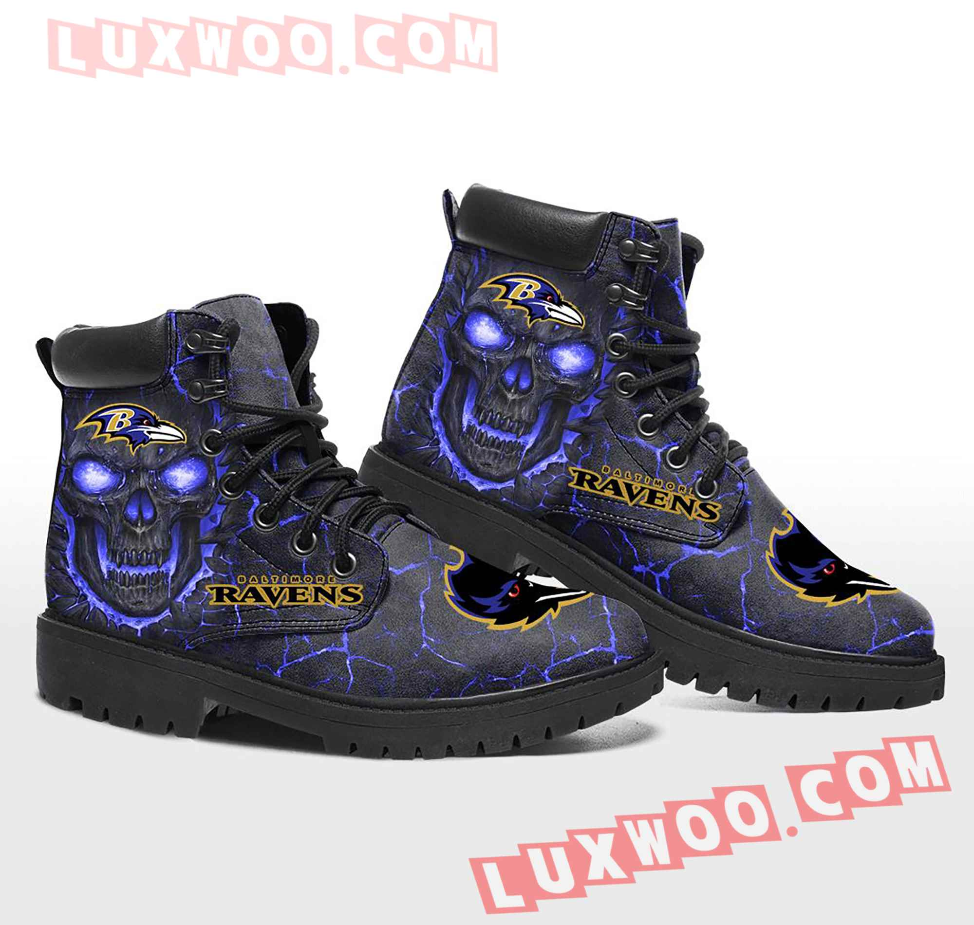 Baltimore Ravens Nfl Season Boots Shoes V1