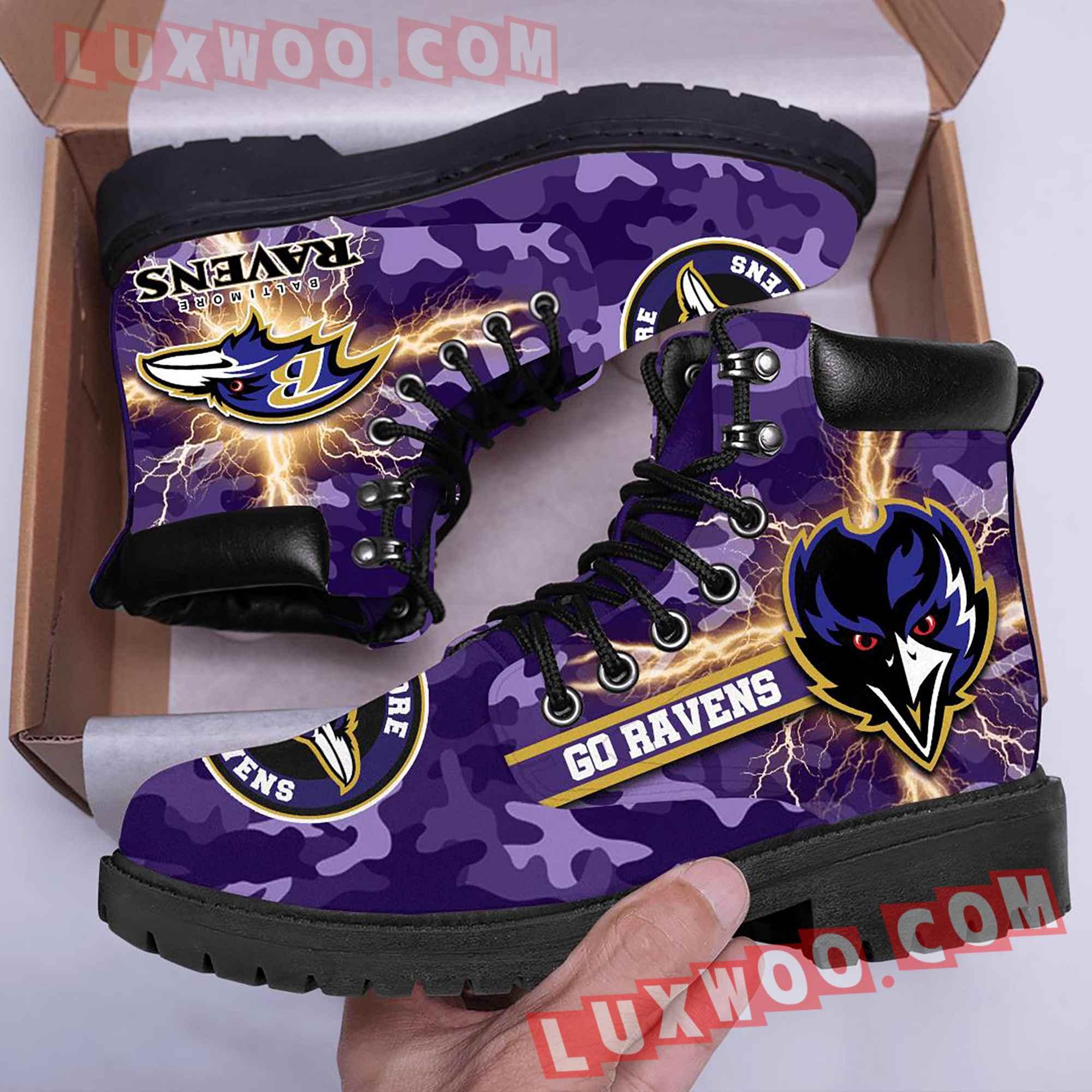 Baltimore Ravens Nfl Season Boots Shoes V2