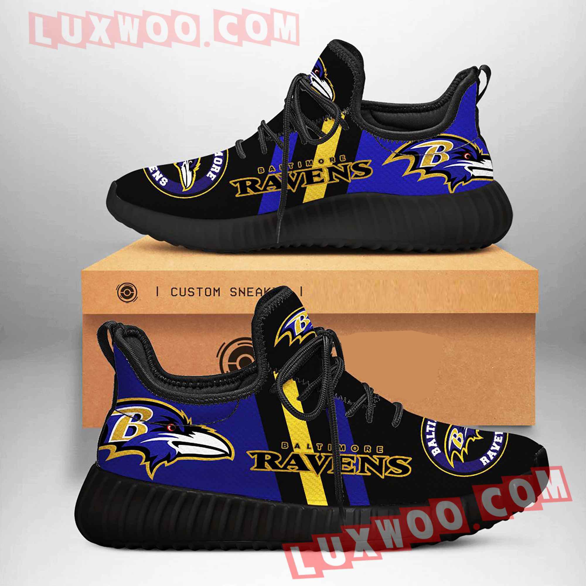 Baltimore Ravens Nfl Yezzy Custom Shoes Sneaker V1